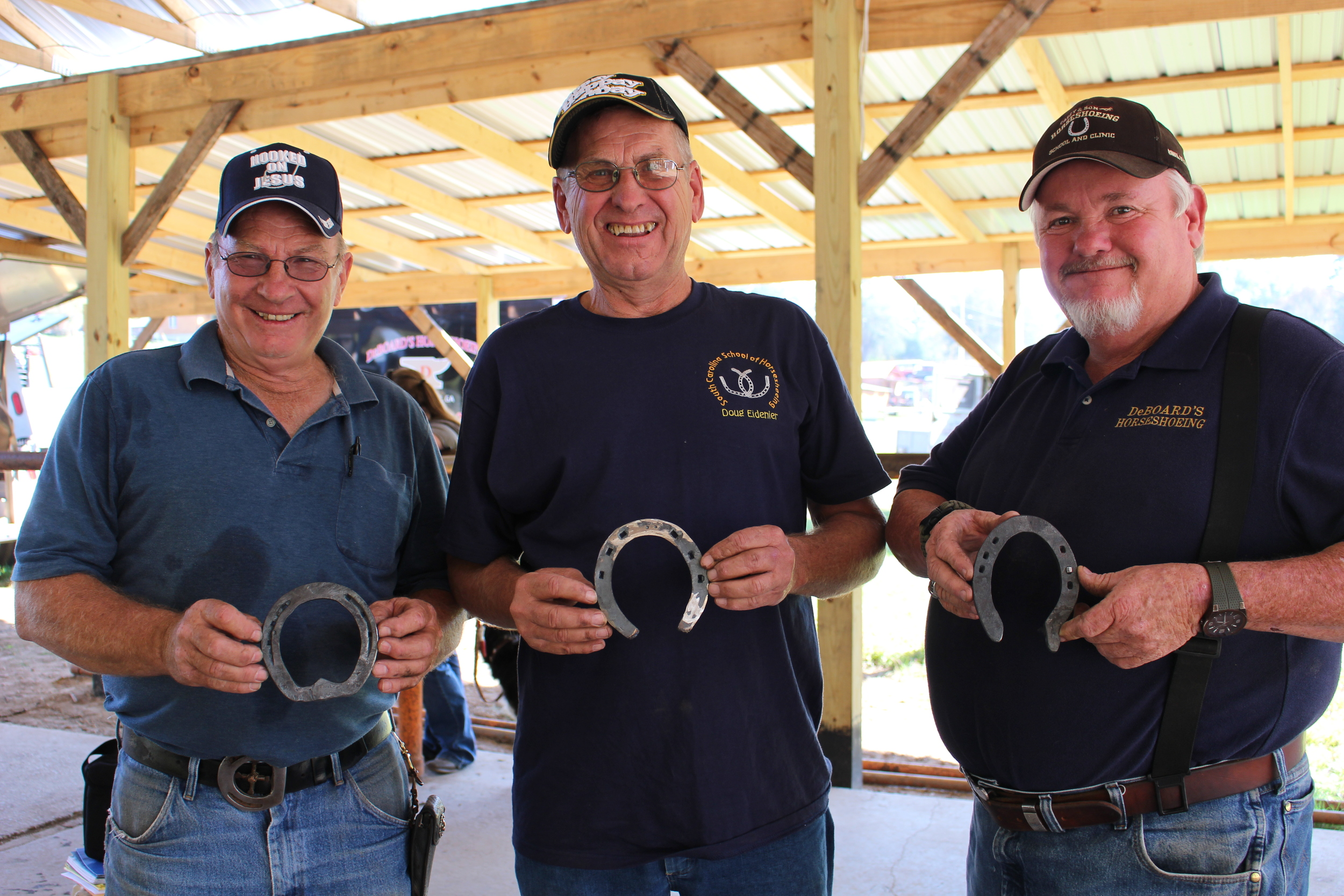 Professional Farriers, Dan Marcum, Doug Eidiner, Ronney Deboard, each with 30+ years of experience to share  2014.