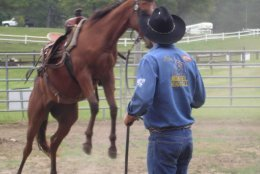 Noavel Headstall Clinic 2000 with Rick Wheat, Inventor before.jpg
