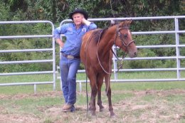 Noavel Headstall Clinic 2000 with Rick Wheat, Inventor, after.jpg