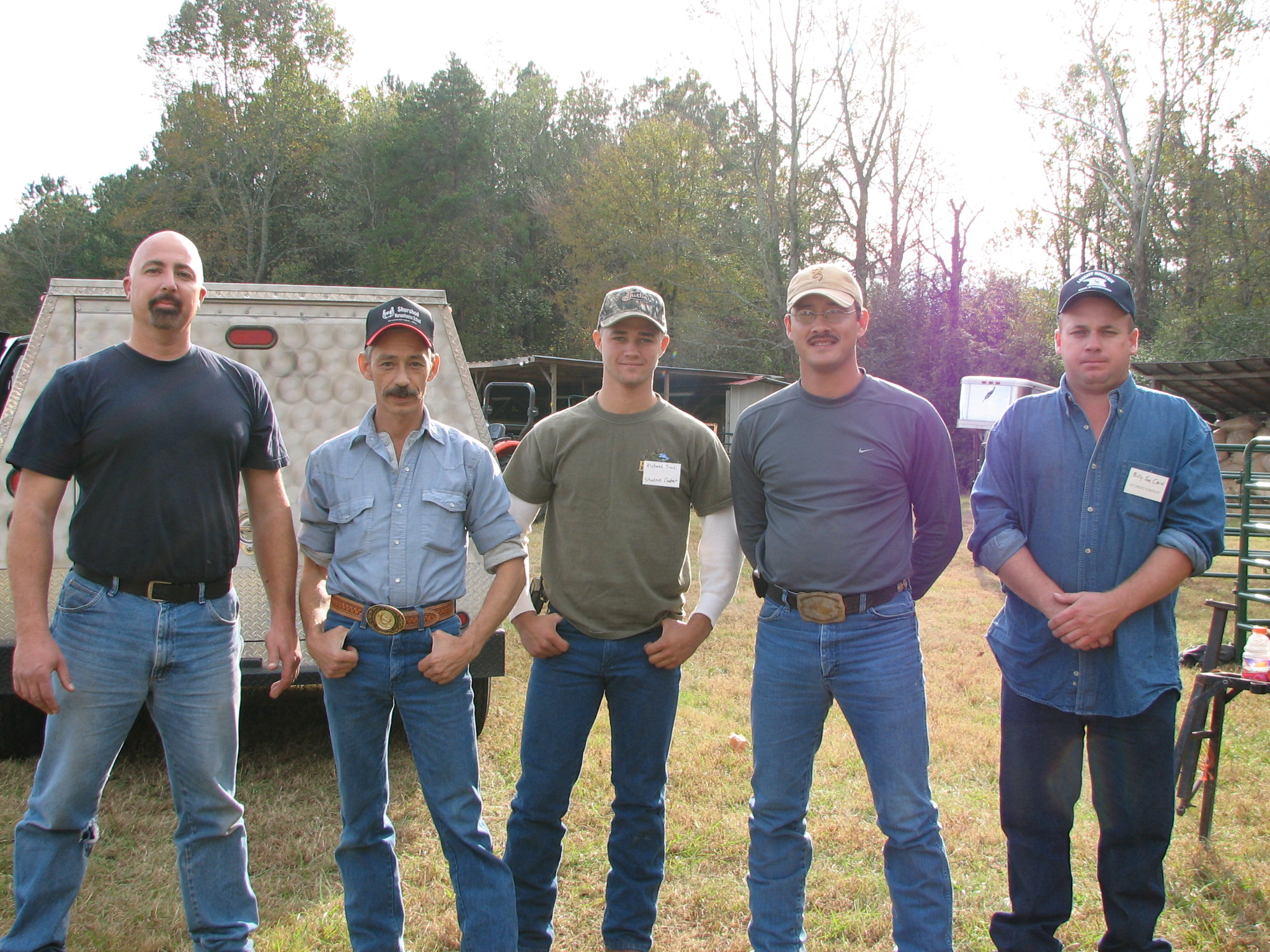 Kelly Case, second from left of ShurShod School Farrier Student Contest 2006