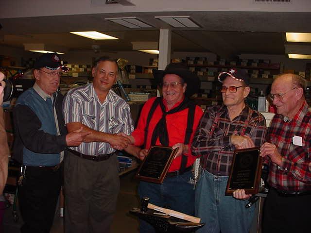 2004 (L-R) Bucky Hatfield, Donnie Cates, CB Jolly, Bill Quick