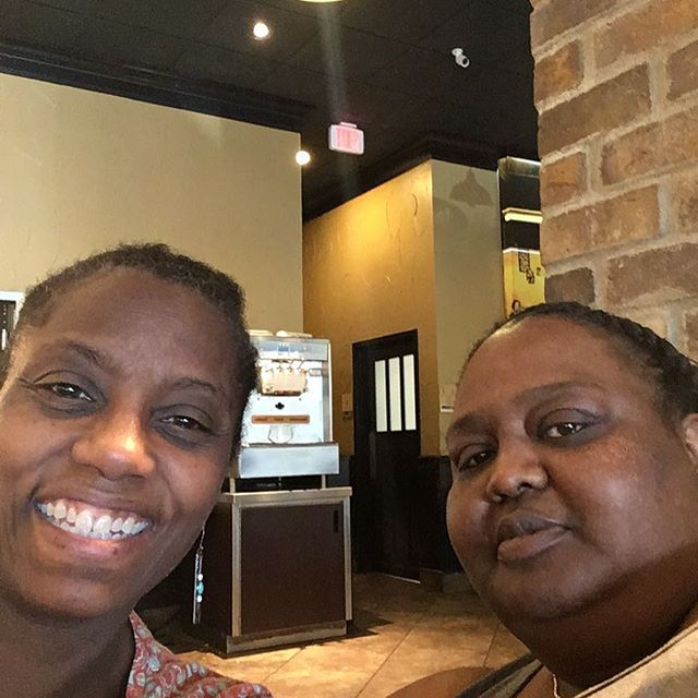 Enjoying a late lunch with my mentee Tracy. Tracy is doing great things. She will be featured in our next newsletter. Moving forward is what she does!