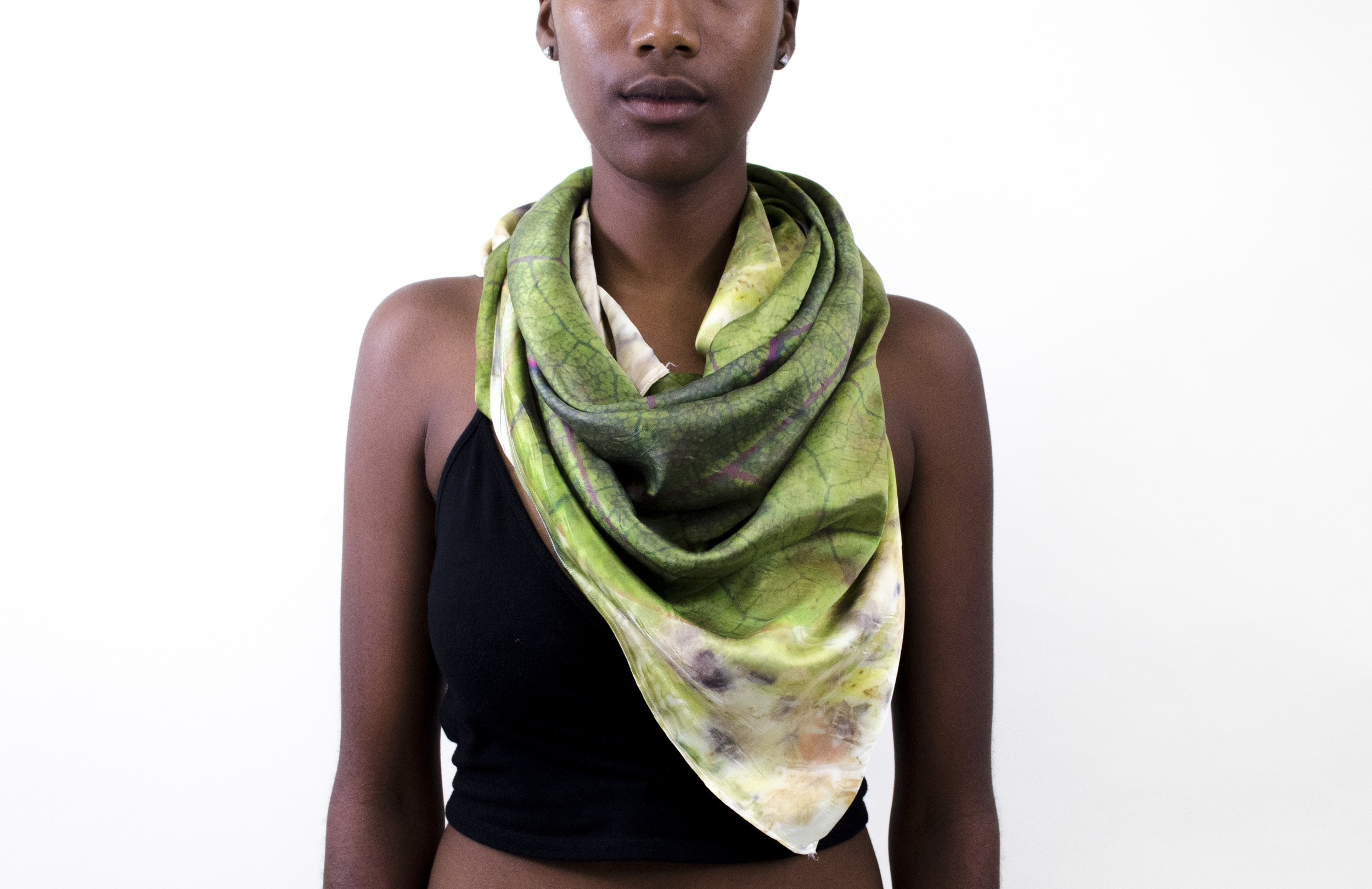 collect - digital print and natural dye on silk