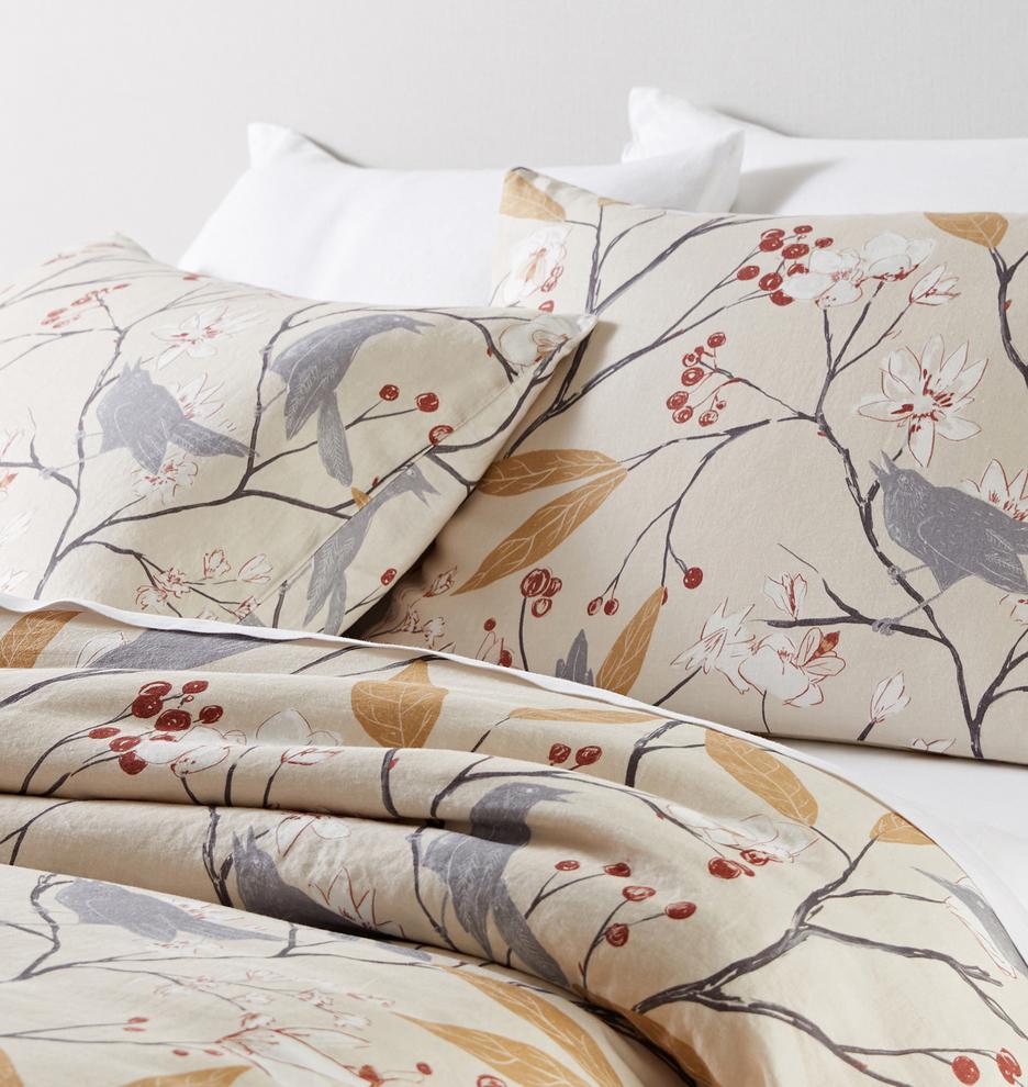 bird bedding - repeat pattern design for rejuvenation