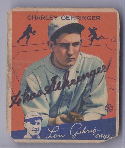 1934 Goudey - Charley Gehringer