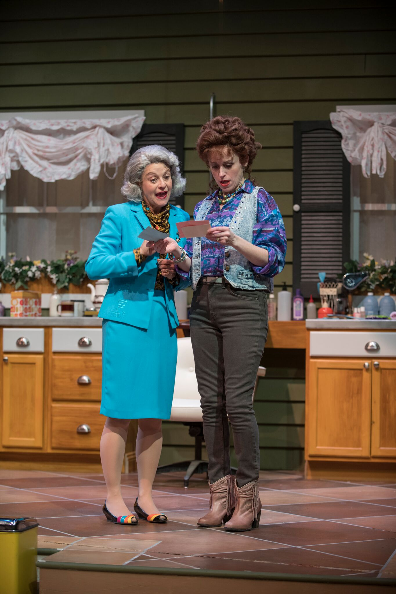 Steel Magnolias  Jeannie Affelder with Heidi Kettenring Theatre at the Center, Munster, Indiana directed by Linda Fortunato photo credit: Michael Brosilow