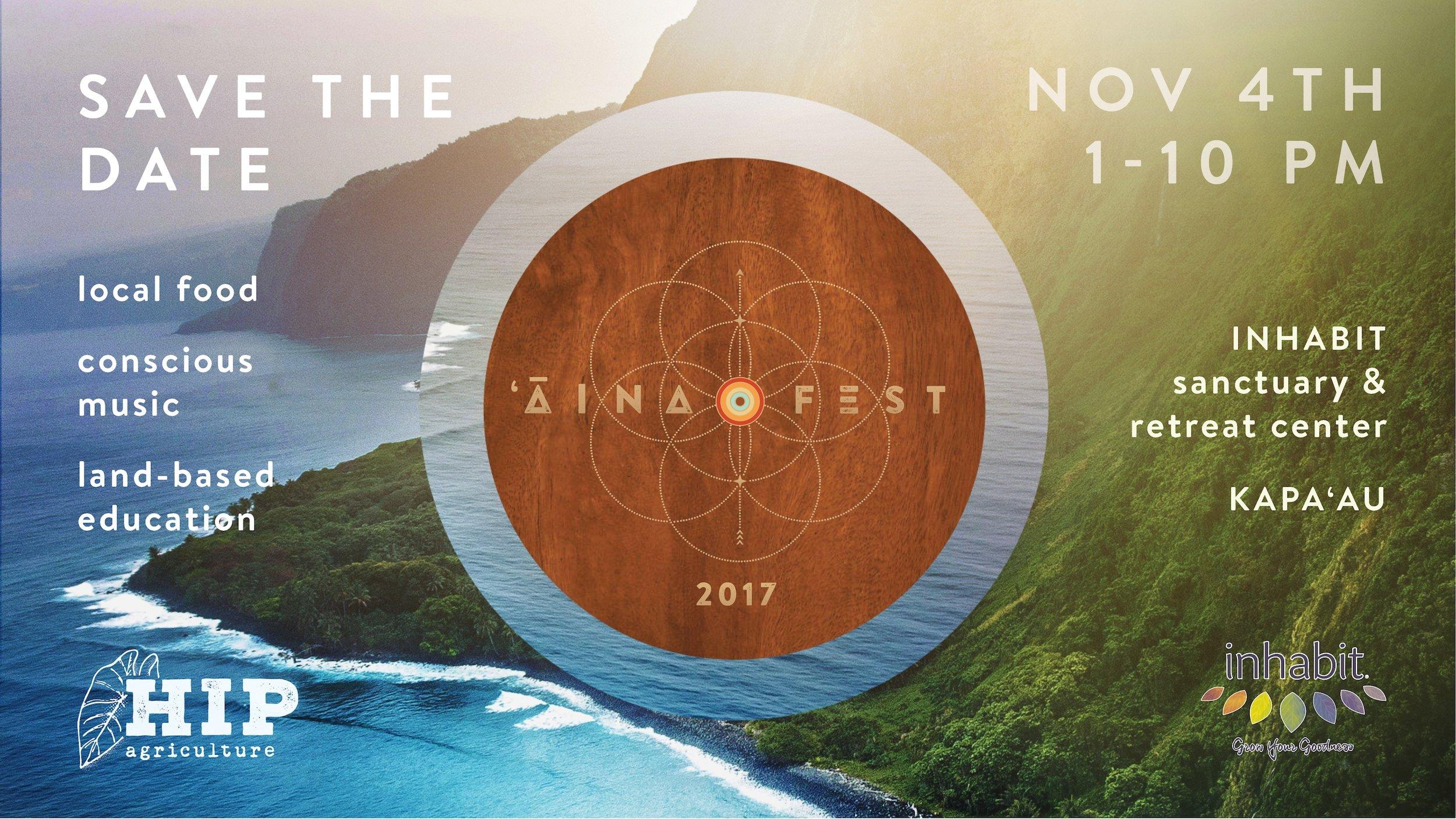 'Āina Fest 2017 Save the Date