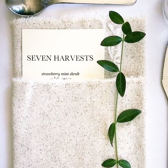 The first course will be served in 3.5 hours! Hope you're as excited as we are! 🤗 . . . #sevenharvests #dinnertime #tablesetting #7H