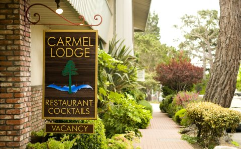 Carmel Lodge  San Carlos & 5th (831) 624-1255 •  website   Carmel Lodge is located in the heart of downtown Carmel on the corner of San Carlos & 5th Ave. This ideal location is just steps from everything that this lovely village has to offer