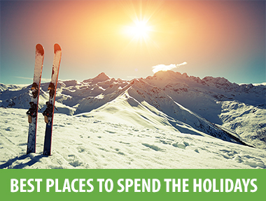 """Whether your winter  holiday trip enhances your yuletide nostalgia with traditions, sparkly lights, and nippy air or makes a radical break from it—by, say, taking you to warmer climes or a quiet, far-flung hideaway. With that goal in mind, we've rounded up diverse, exceptional places to get you in the spirit of taking off. Full list  here .   Trømso, Norway     Why Go:  The snowy city island of Trømso offers unparalleled views of the northern lights (look for them between 6 p.m. and midnight) and a chance to say you've been to the North Pole—well, the Arctic Circle, anyway—for Christmas. Plus, there's dogsledding, great food, and a mountaintop cable car. Here, """"day"""" is just a couple hours of twilight blue.    Where to Stay:  Most hotels shut down for the holiday, but not the  Clarion Hotel Bryggen , right on the harbor. The views of Trømso Sound are best admired from the roof's steamy Jacuzzi.    Holiday Dinner:  Stay put at the Clarion for a traditional Norwegian Christmas dinner at its restaurant, Astro . The chef has been known to serve Nordic dishes like basil-glazed filet of catfish and whole roasted filet of pork, and recommends a side of French salt-baked Rosewald potatoes.      Prague        Why Go:  Stroll historic Nerudova street in Mala Strana to view the city's Gothic and Baroque architecture, or catch an opera or ballet at the State Opera or National Theater. Visit the holiday markets in Old Town Square and Wenceslas Square.    Where to Stay:  The 109-room Hotel Josef is outfitted with Baleri armchairs, Philippe Starck bathroom fixtures, and fluffy duvets.    Don't Miss:  Standout local brews; grab a pint of pilsner at cozy  U Pinkasů .      Lapland, Finland        Why Go:  The wilderness Urho Kekkonen National Park, a 90-minute flight from Helsinki, is an actual winter wonderland: traverse the frosty landscape via a reindeer-pulled sled, or go cross-country skiing on the Saariselkä trails.    Where to Stay:  Some of the igloos at  Hotel Kakslauttanen a"""