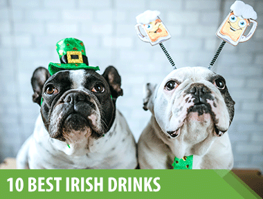 1)    Baileys Irish Floats    A real Irish treat!    2)    Irish Coffee    Coffee and whiskey never tasted so good.    3)    Baileys S'mores Floats    Hot chocolate never saw Baileys coming.    4)    Pot o' Gold Shots    Want a nonalcoholic version? Swap out the whiskey for another 1/2 c of cold water.    5)    Lucky Charms Shots    They're magically Delish!    6)    Mudslide Hot Chocolate    This is not  your average hot chocolate.   7)    Milk & Cookies Shots    Cookies filled with Baileys? Yes please.    8)    All Irish Black and Tan    This mellow, beer-based beverage features Guinness Draught layered atop another Irish brew — Smithwick's red ale.    9)    Baileys Espresso Martini    Coffee lovers will flip over this combination of sweet, creamy Baileys and rich brewed espresso.    10)    Manhattan    Everyone loves the classic, whiskey-based cocktail mixed with sweet vermouth.