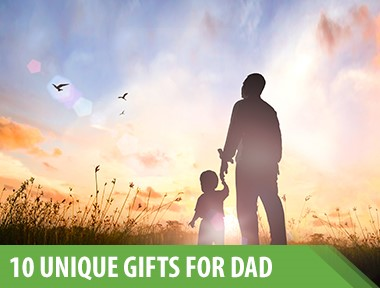 Finding a gift for dad can be tough. You want to get him something that won't just collect dust—something that's both useful  and  cool. But what if he's the kind of guy that already has pretty much everything? Not to worry; we're here to help you out. Here are 10 unique, useful—and, yes, cool—ways to brighten his holiday season.   1)    Fizzics Portable Draft Beer System   This at-home or on-the-go dispenser takes 64 ounces of any beer dad wants and sends it through its tap system so it tastes like a freshly pulled draft.   2)    eTape16 Digital Tape Measure   For the dad who's always in the middle of a home improvement project, this digital tape measure with memory storage and conversion capabilities will take some of the hassle out of it.   3)    ChefSteps Joule Sous Vide   The Joule cooks meat to perfection, so dad can make himself a steak worthy of a Michelin-starred restaurant.   4)    Garmin Speak Plus Dash Cam   Garmin's device will record his trips while Alexa gives him directions, checks the traffic, and controls the entertainment. Safe and savvy, for the dad who's always behind the wheel.   5)    Zojirushi Stainless Steel Mug   And to complement that brew, a leak-proof travel mug that will keep the coffee hot for hours.   6)    Pluto Pillow   Pluto lets him totally customize his pillow for ideal height, stiffness, and bounce. He'll sleep so well with it.   7)    SelectTech 560 Dumbbells   These smart dumbbells can be programmed to different weights from five to 60 pounds—perfect for days when he's tired  and  days when he wants to feel the burn.   8)    Shiitake Log Kit   Fresh, foraged mushrooms will be his to cook delicious meals with all year round.   9)    Braun Series 7 Shaver   Because he would never buy himself a fancy shaver like this.   10)    Allsaints Indo Shirt   This is a Hawaiian shirt to show up all those other dads and their less-cool Hawaiian shirts.