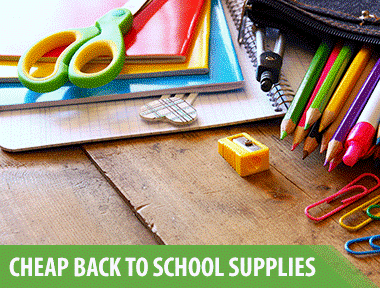 Here's how to get all of those necessary supplies with the best back-to-school sales around. Use this  Back-to-School Stock-up Price List  to determine if you're getting the best deal.   1. Buy pencils at    Staples    when they run back-to-school sales for $0.25 a box   If you want name-brand pencils, then watch for Amazon to price their  Ticonderoga #2 pencils  for $9.96 for 96 pencils, making them just $0.10 each! This is one of our favorite deals to buy pencils in bulk.   2. Buy crayons at    Walmart    when they're $0.50 per 24-pack.   It's easy to get Crayola crayons for under KCL stock-up prices when you combine a coupon or an  Ibotta  rebate with a sale.   3. Buy rulers at    Office Depot    when they reach $0.25 each.   Office Depot always drops prices on rulers for back-to-school shopping because they know it'll get you into the store — and let's face it, they're probably right.   4. Buy glue sticks at    Walmart    when they're $0.25 each.   You can find Elmer's brand glue — both liquid and glue sticks — for cheaper than the generic version at Walmart for back-to-school shopping.   5. Buy calculators at    Dollar Tree    for $1.00.   Paying $1.00 plus tax is a great way to save on super expensive back-to-school supplies.   6. Buy hand sanitizer at    Target    when it's $1.25 — or less — per bottle.   We saw this happen last year with Purell hand sanitizer. A good stock-up price for an 8-ounce bottle is $1.25. But we got it at Target for $0.37 per bottle! When you can combine a coupon, a  Cartwheel discount  and a rebate-app offer at Target, it basically rains money. And if you haven't downloaded  Target's app , then you should probably do that right now. The app has Cartwheel inside, which will get you tons of coupons and in-store discounts.   7. Buy colored pencils at    Family Dollar    when they're $1.00 per pack.   Stock up on colored pencils when they reach $1.00 or less for a 12-pack. Last year,  Family Dollar marked Crayola colored pencils down to $1.00/12-pack. This is a must-have for your back-to-school supplies list!   8. Buy spiral notebooks at    Walmart    when they reach $0.25 each.   Two years ago, spiral notebooks went for $0.17 each at Walmart. This was the best price we've ever seen. Last year, we could only find them for $0.25 each at Walmart. It'll have to do!   9. Buy facial tissue at    Walgreens    when it's under $1.00 per box.  10. Buy disinfecting wipes at    Target    when they're $0.04 per wipe.   Target has the best Lysol deals, and you'll likely be able to get them for under $0.04 per wipe during back-to-school sales, which is the KCL stock-up price.   11. Buy folders at    Office Depot    when they're $0.15 each.   You can find 2-pocket folders at Office Depot for as low as $0.15 each during the back-to-school shopping season.   12. Buy ballpoint pens at    Target    when they're $0.07 each.   Aim to spend no more than $0.07 per pen anywhere you shop, and keep an eye out for  Bic coupons because last year there was a $1.00 off Bic coupon. A package of 10 pens is $0.99 at Target, so this coupon made it so they were free. My favorite back-to-school shopping is the free kind!   13. Buy scissors at    Walmart    for $0.50 each.   In 2018 we saw children's scissors for $0.50 at Walmart. Walmart offered a rollback price on Fiskars — no coupons needed!   14. Buy composition notebooks at    Staples    when they're $0.50 each.   Composition notebooks typically reach as low as $0.50 each at Staples — sale price! No coupons necessary.   15. Buy lunch boxes at    Old Navy    when they go on clearance for less than $5.00.   In July 2018 we saw Old Navy put lunch boxes on clearance for just $4.97, down from $12.00! That's a pretty sweet savings on cute and insulated lunch boxes.