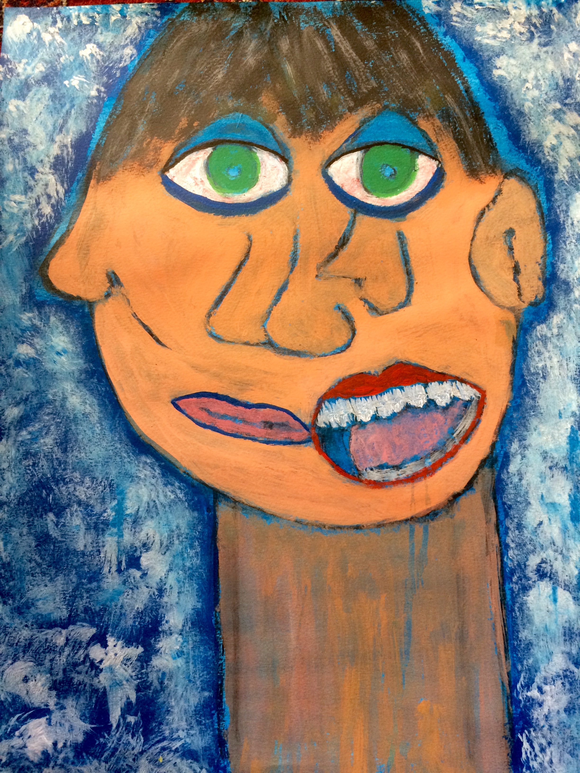 """Zooey's Lament""  Acrylic 24x18"