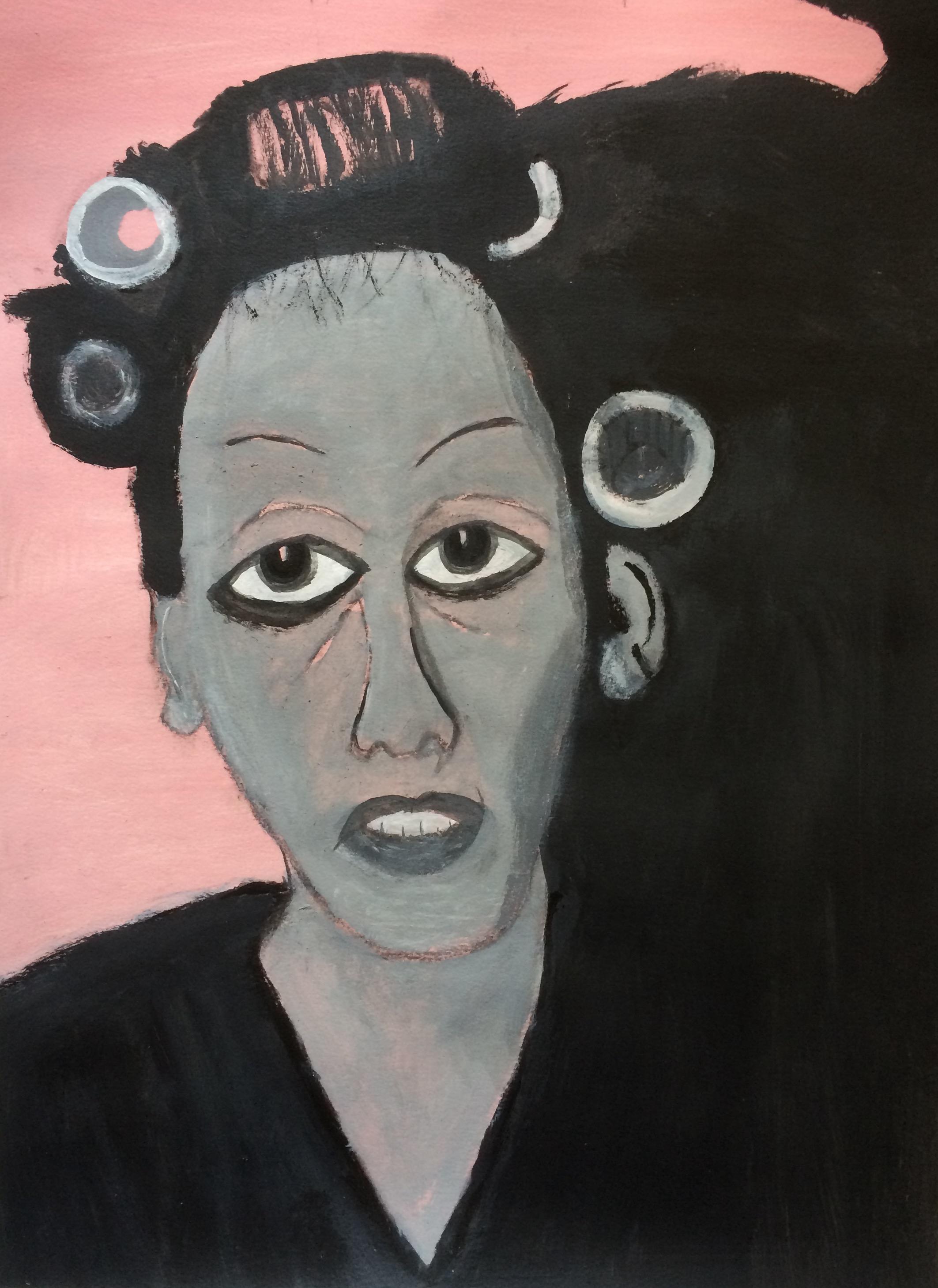 """Curled""  Acrylic 24x18"