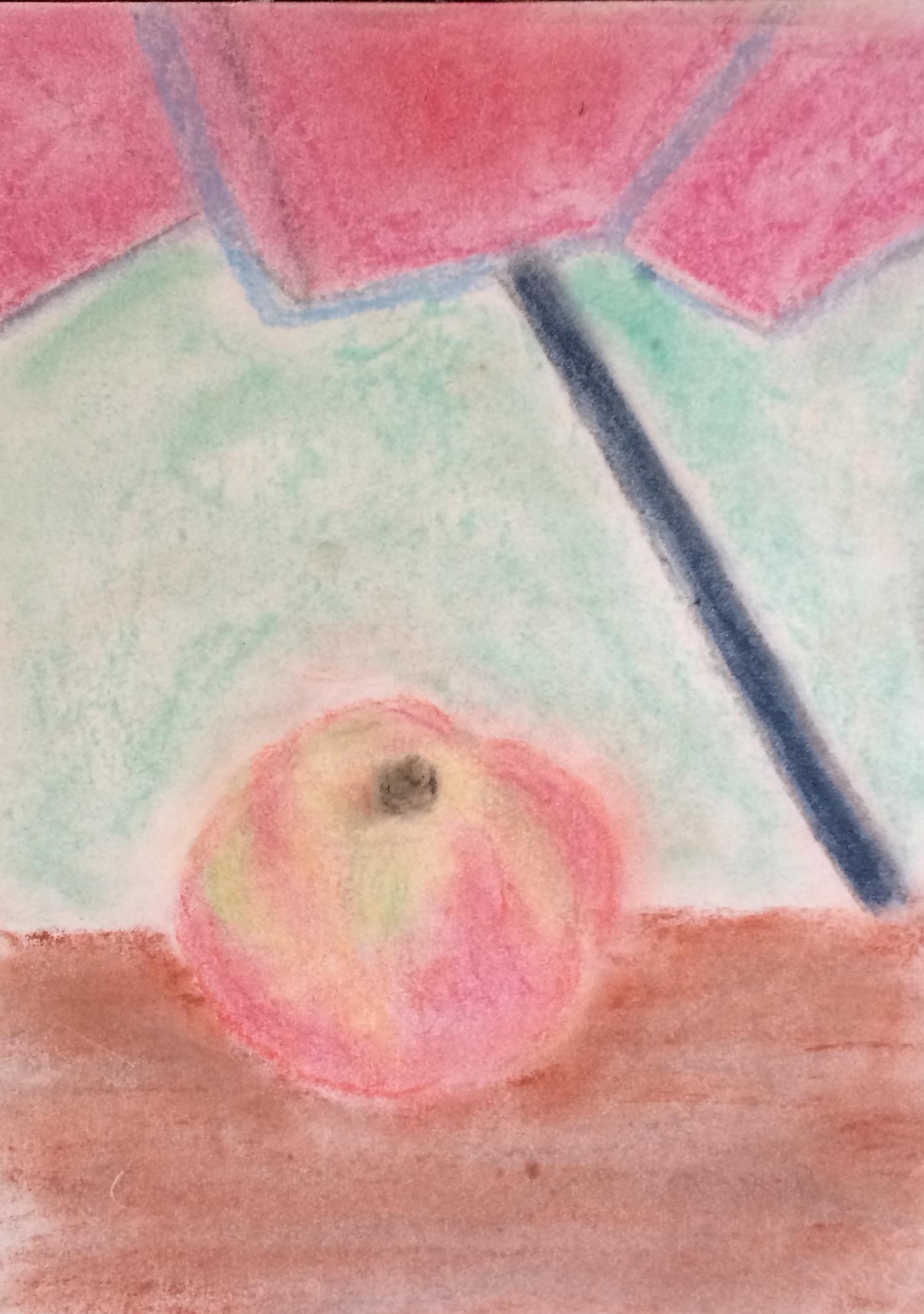 """Candy Apple"" Pastel & Pencil 12x9"