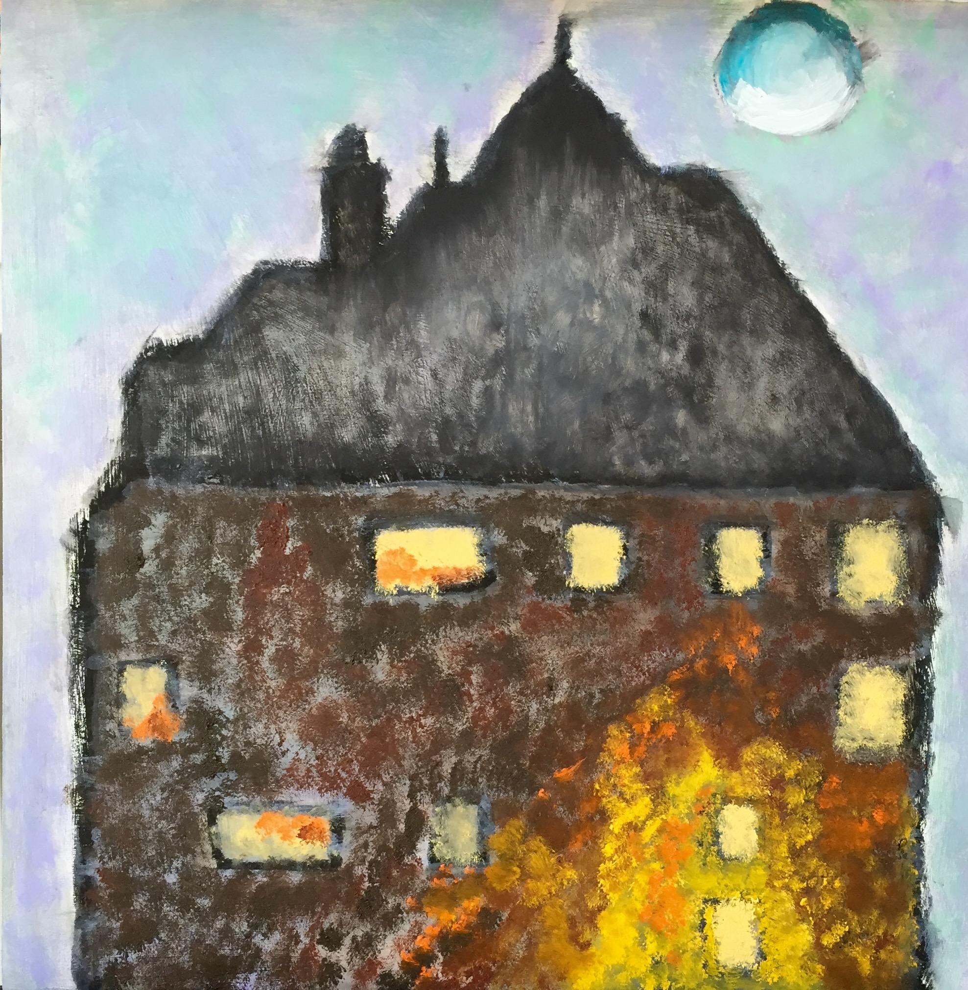 """Chateau"" Oil on Wood Panel 12x12"