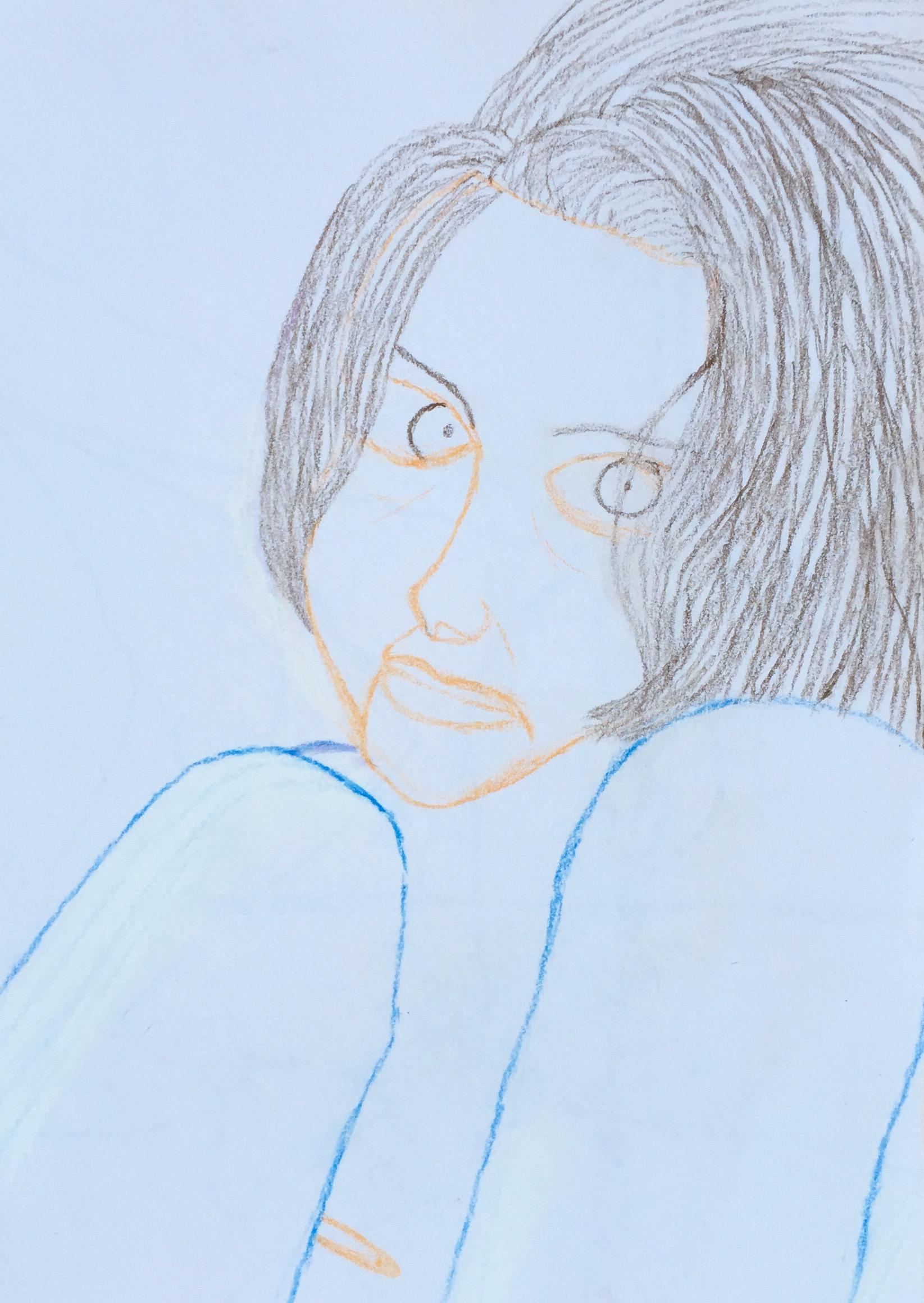 """""""Nora"""" Pastel & Pencil 12x9"""