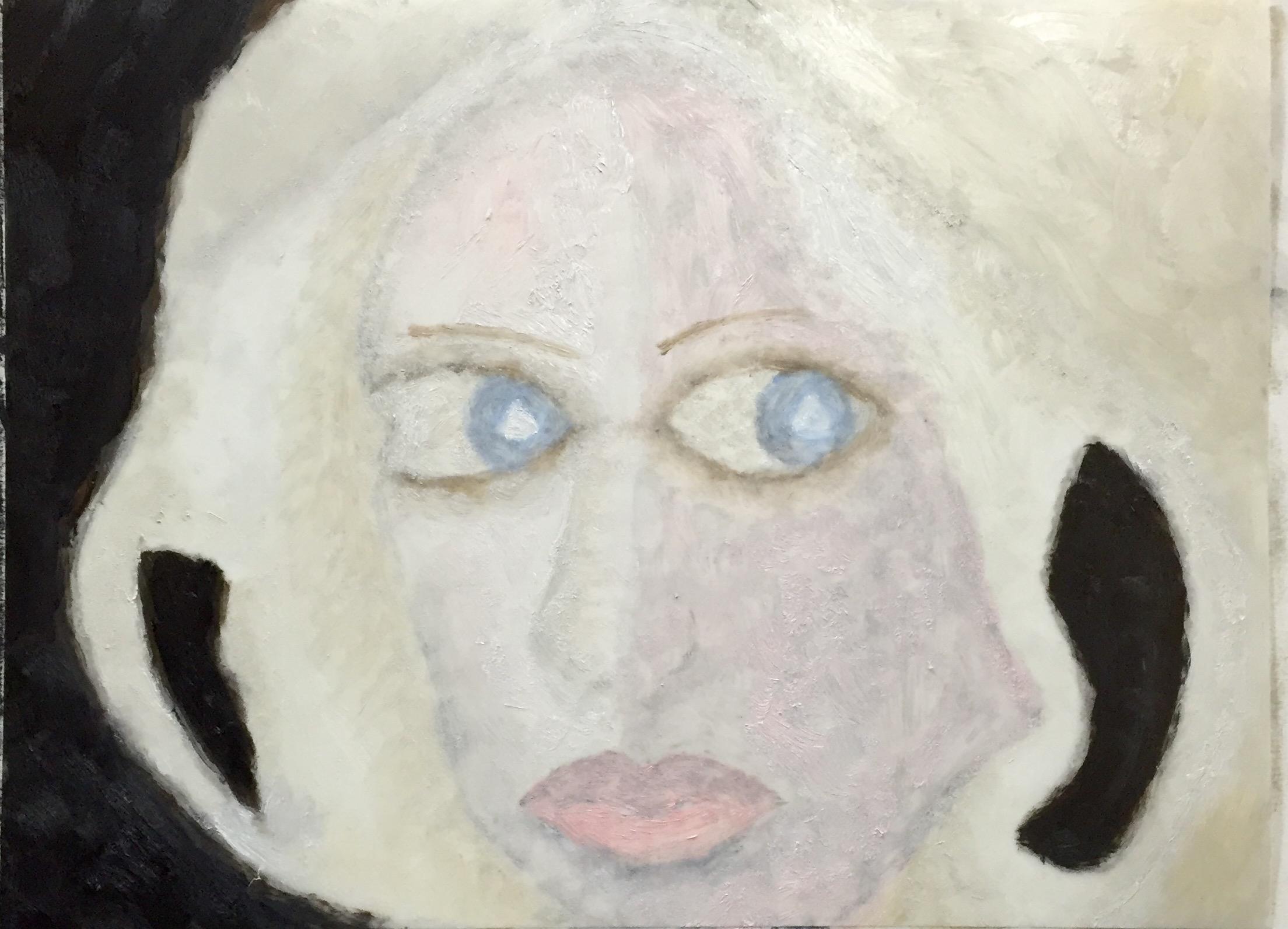 """Pearl"" Oil on Mylar 12x9"