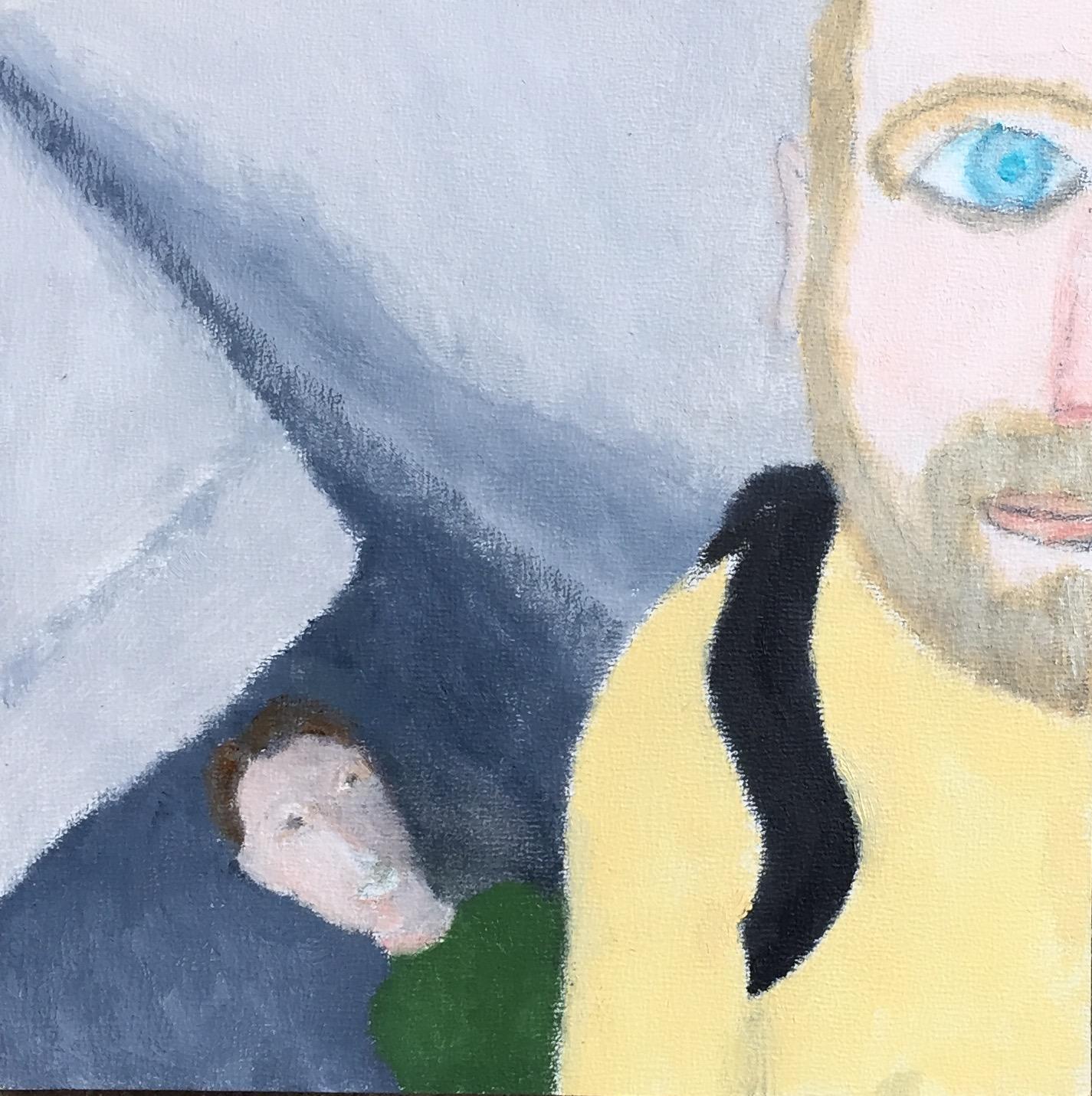 """""""Jesse and Hannah"""" Oil on Wood Panel 7x7"""