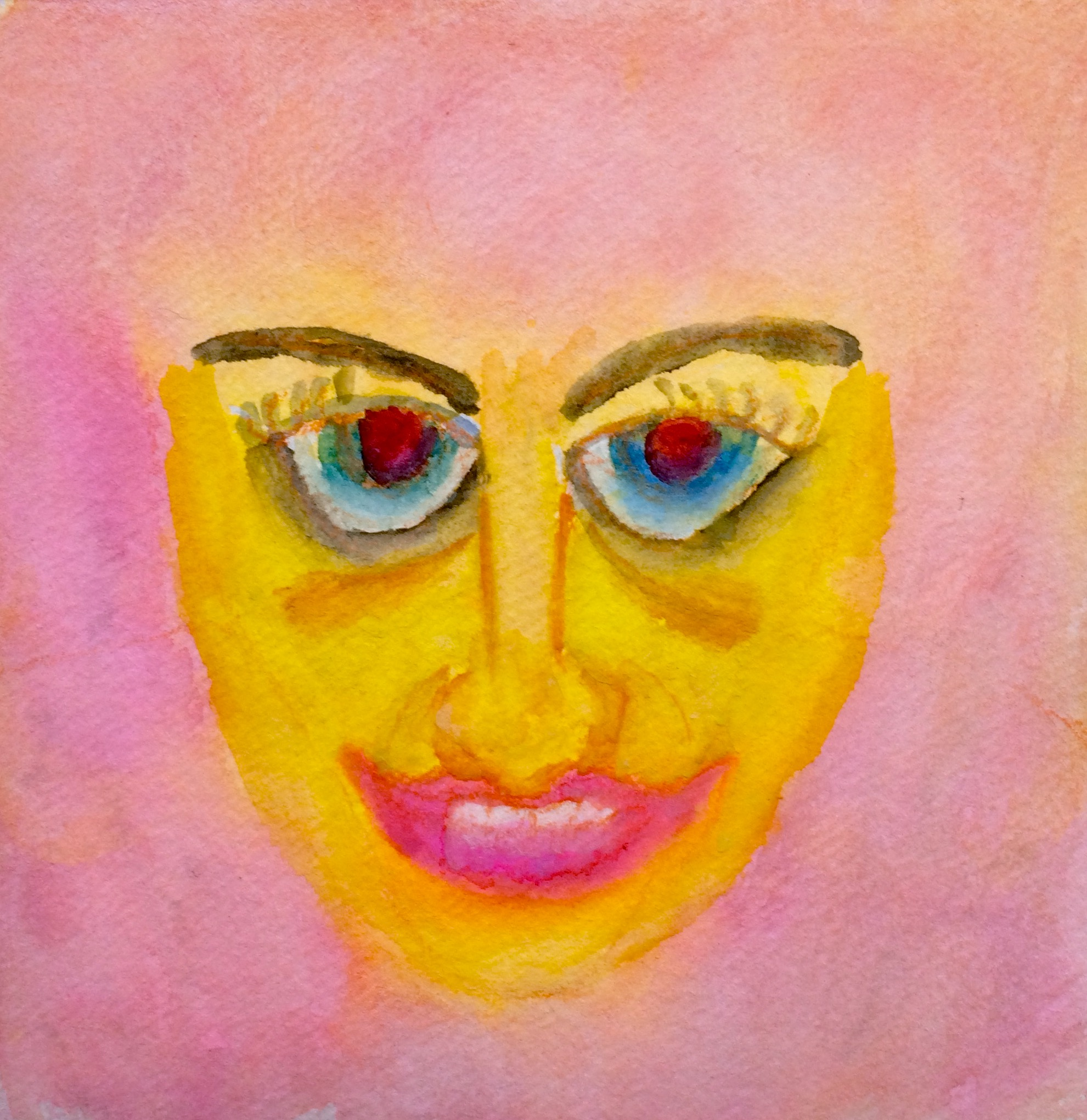 """Baby Jane"" Watercolor 6x6"