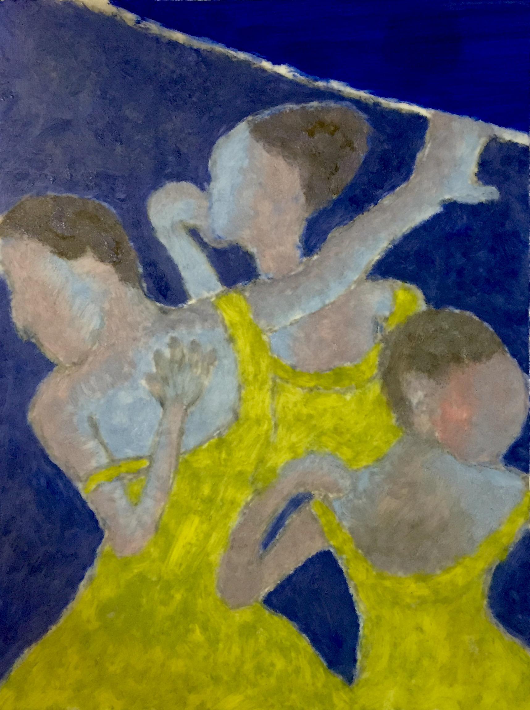 """Midnight Dancers"" Oil on Mylar 12x9"