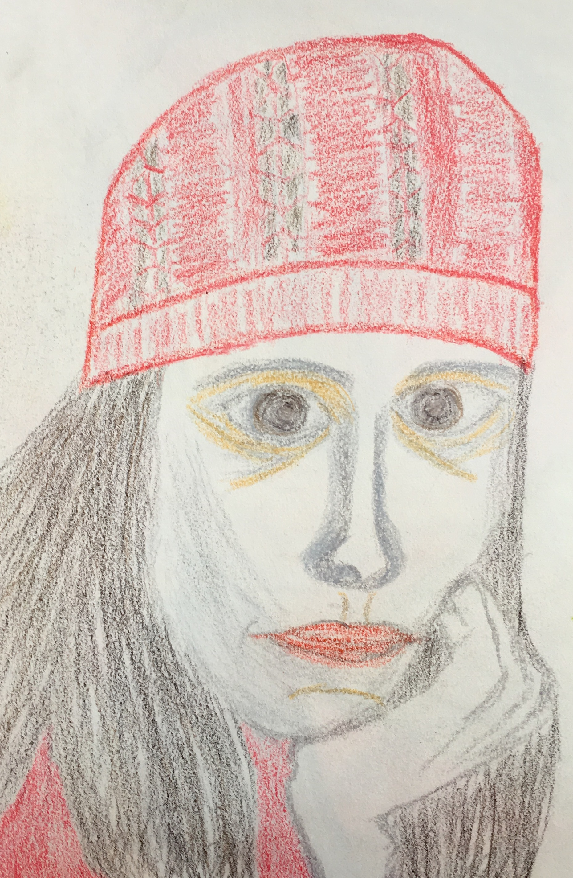 """""""When She Wears Red..."""" Pencil & Pastel"""