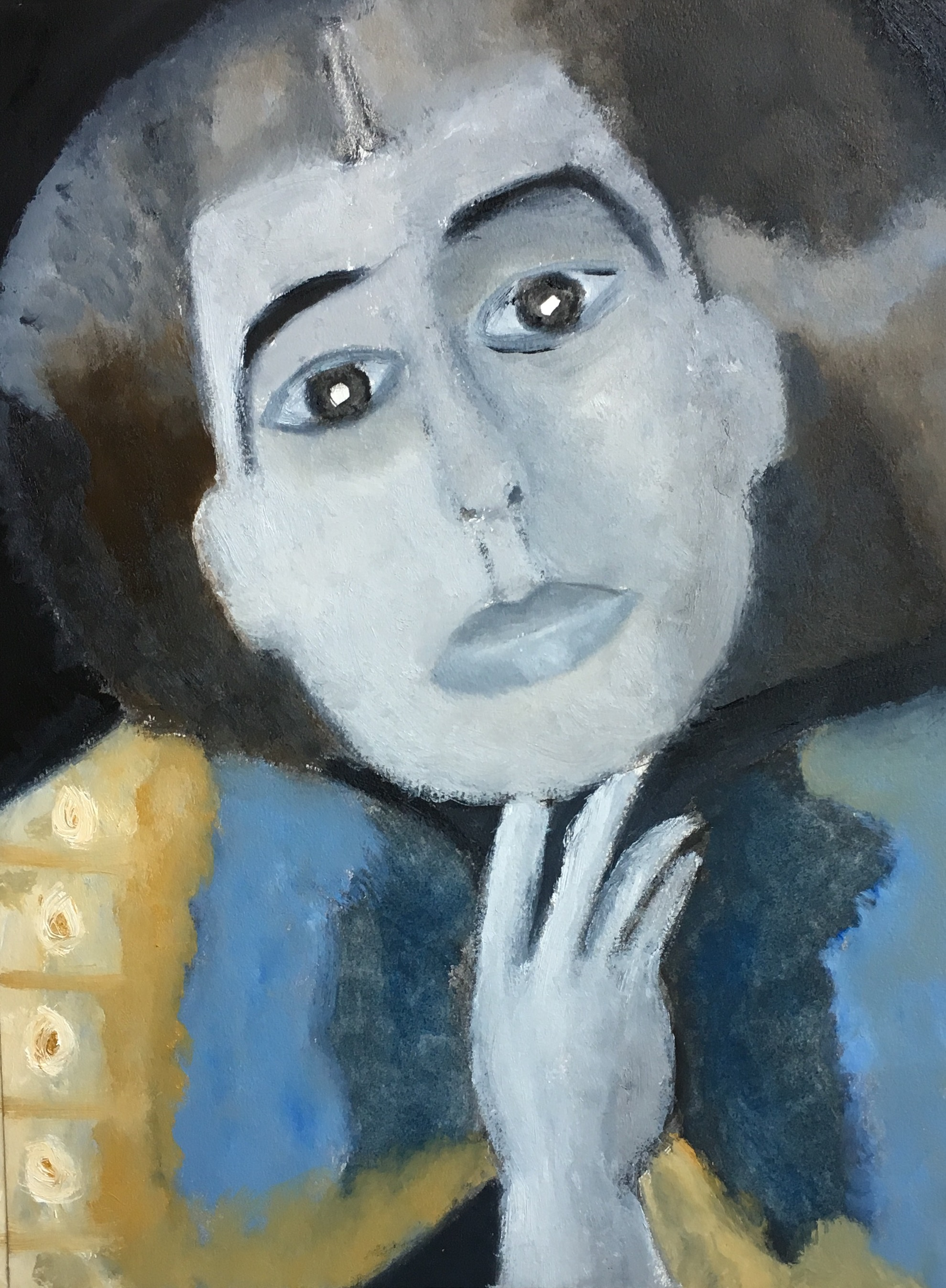 """""""What If Man Ray..."""" Oil On Paper 16x12"""