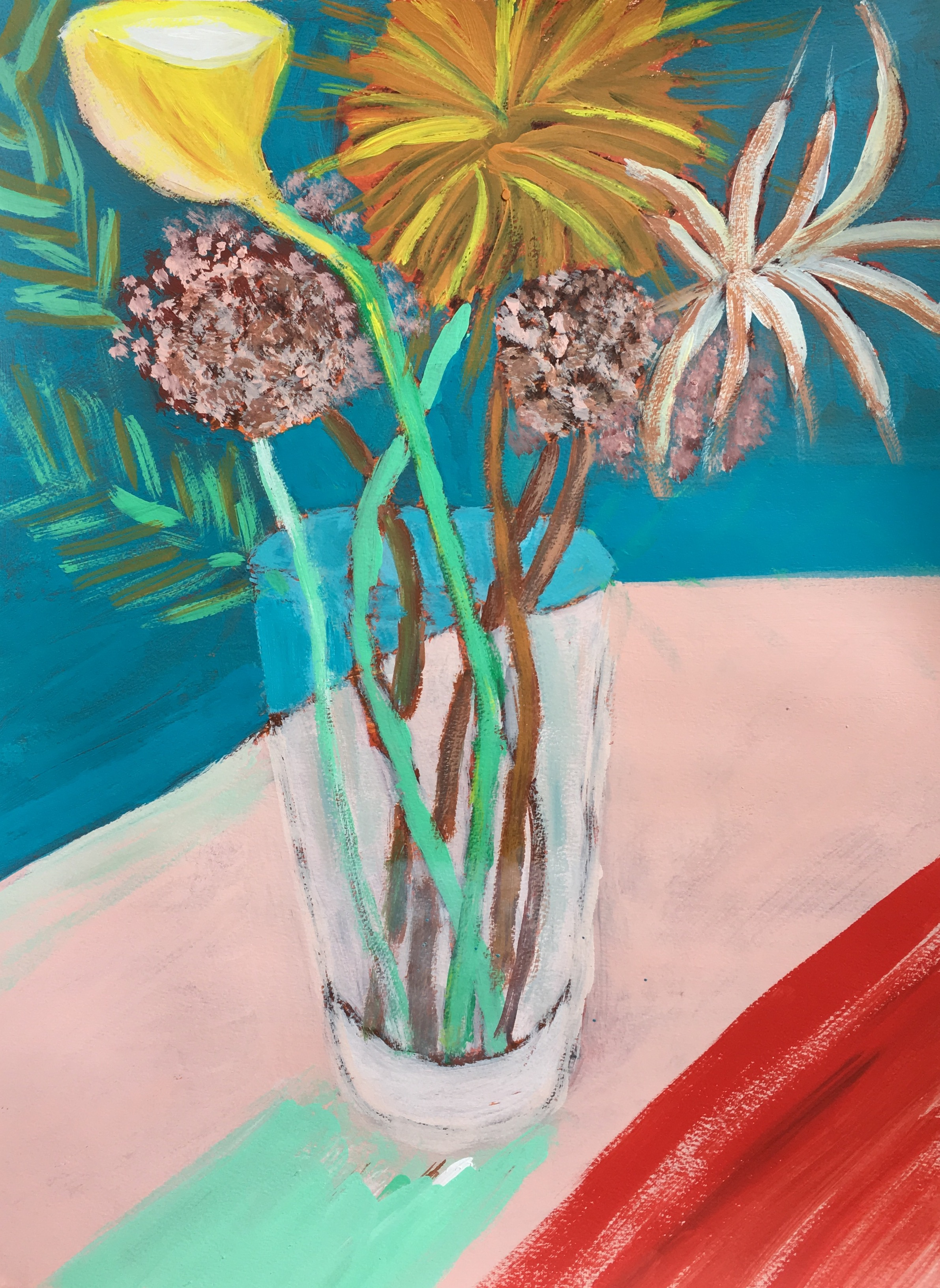 """It's Still Life"" Acrylic On Paper 24x18"