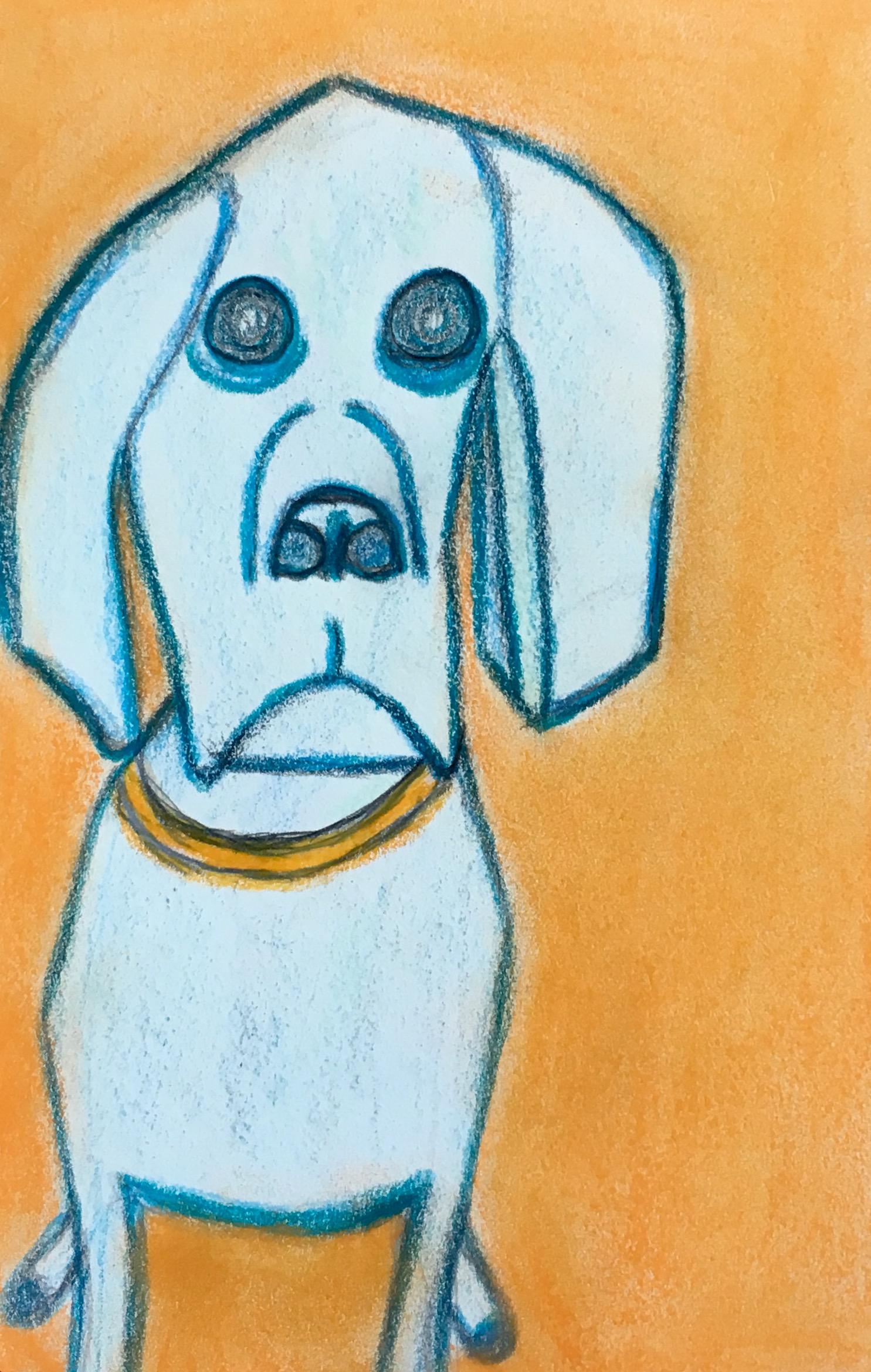 """Trojan Dog"" Pastel & Pencil"