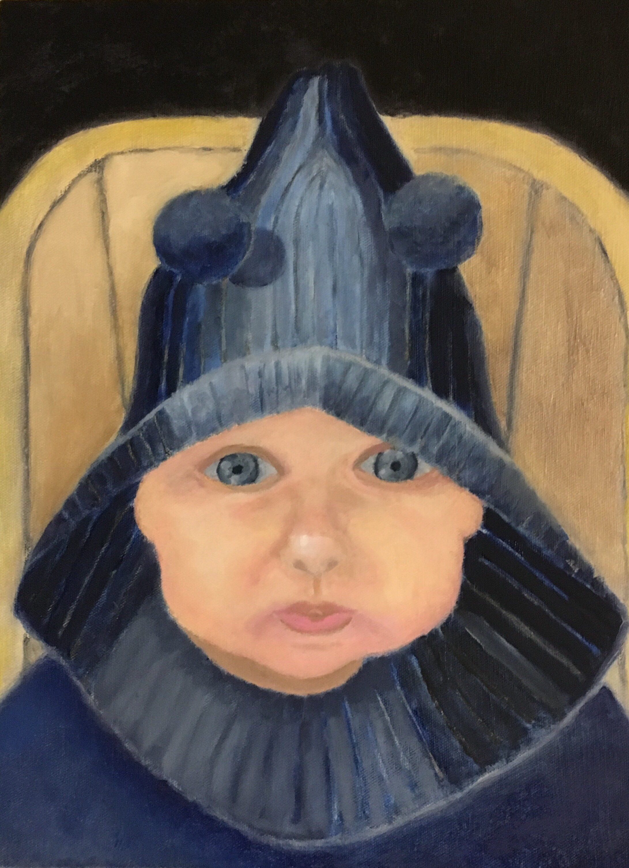 """""""Theo"""" Oil on Canvas 16x12"""