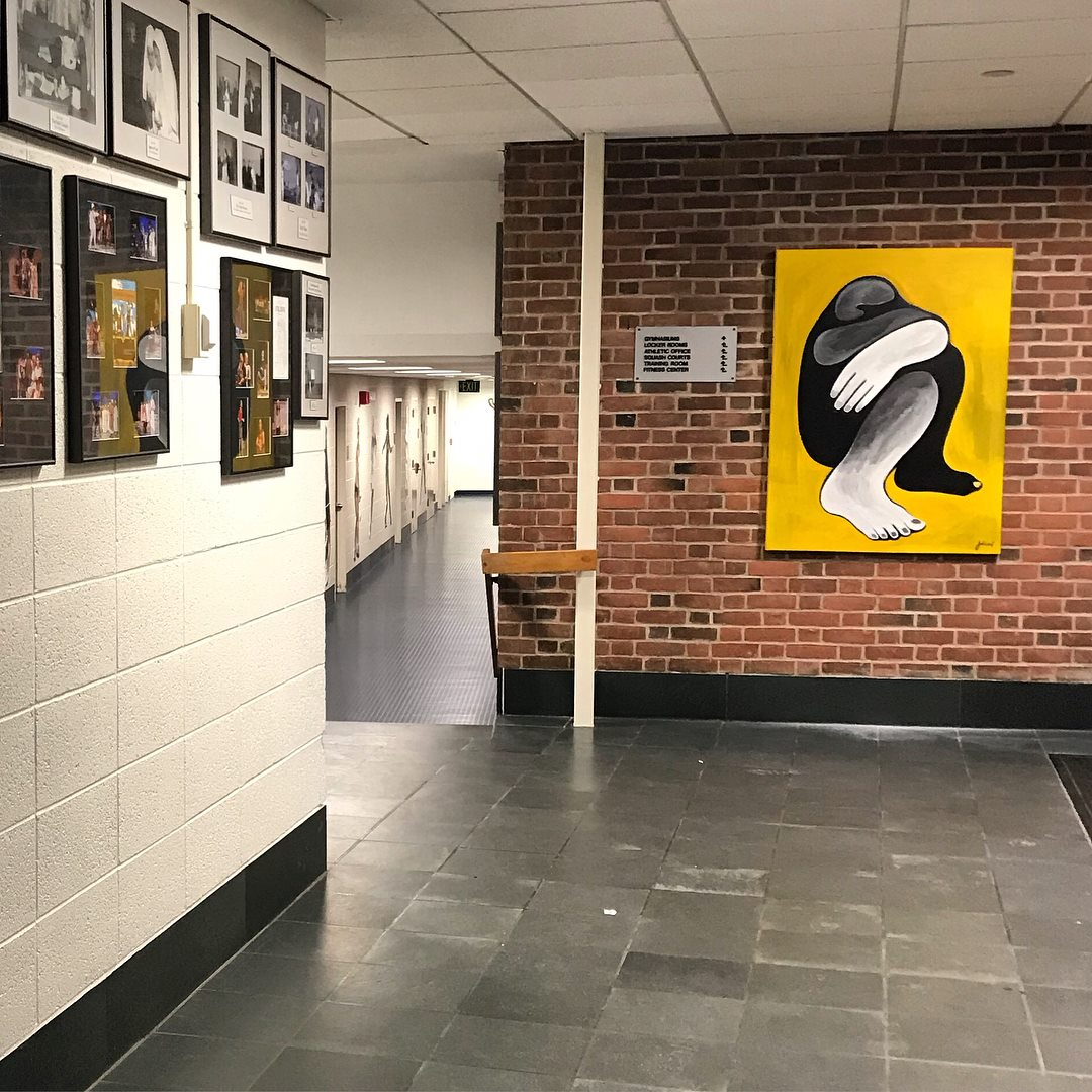 'Mwen Chita La' Exhibited on the walls of the Nona Evans Building at Miss Porter's School