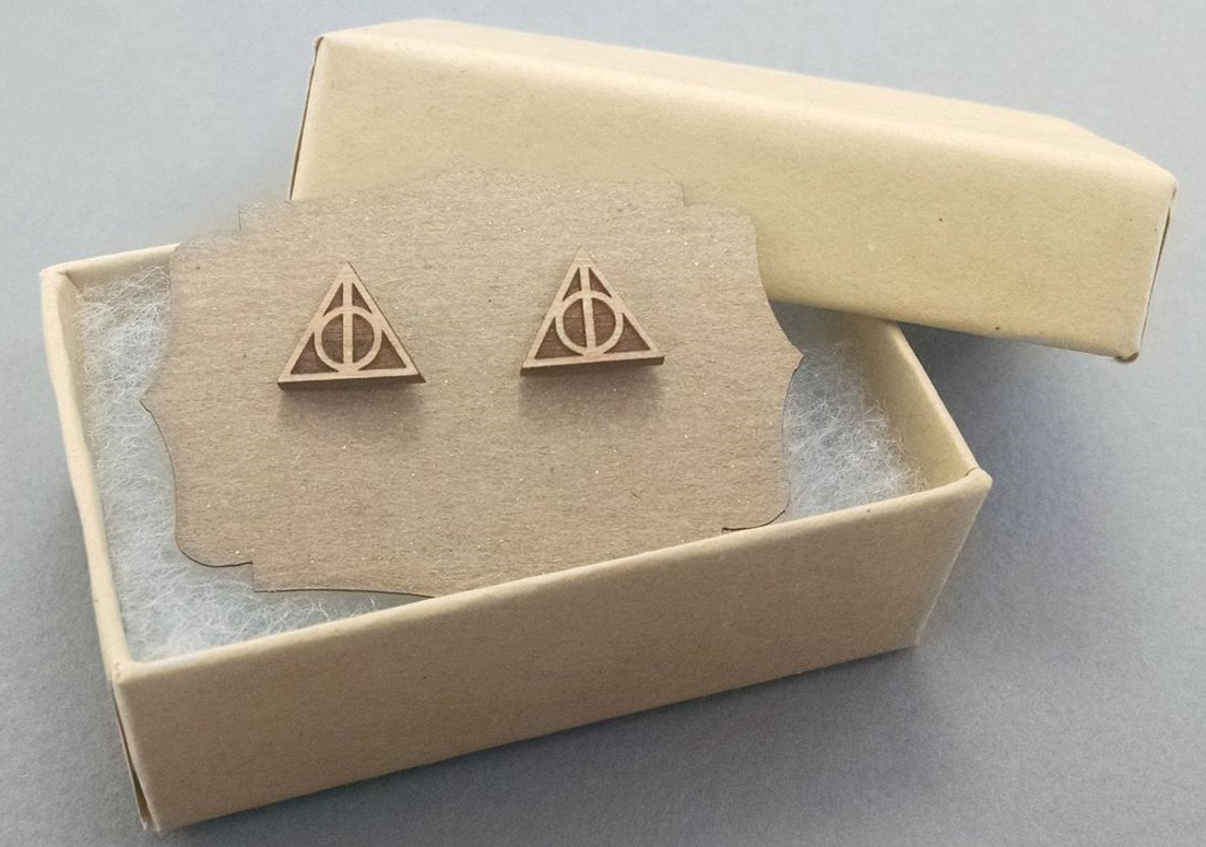 Harry Potter Deathly Hallows Post Earrings