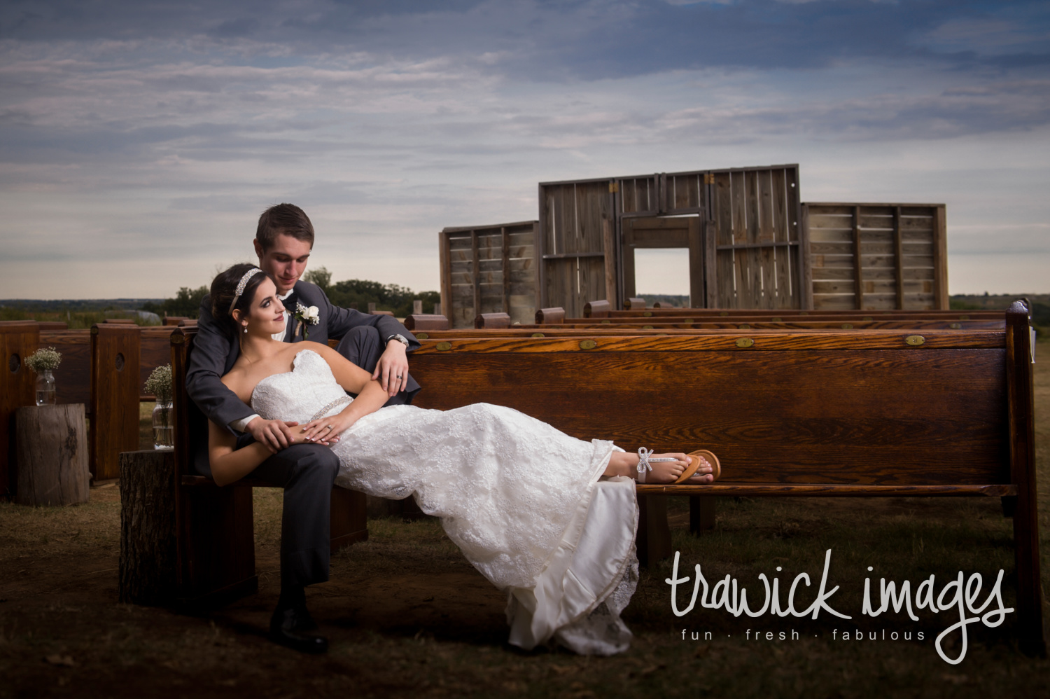 TJ & Jessica take a moment to relax before heading to the reception. Blessed Oak Farm was a perfect place for these two love birds to have their vows.