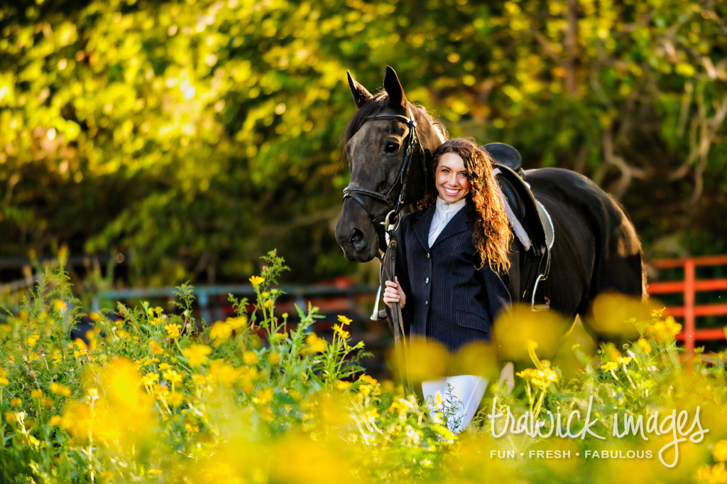Daylan with Lenny during her high school Senior Fashion Session.