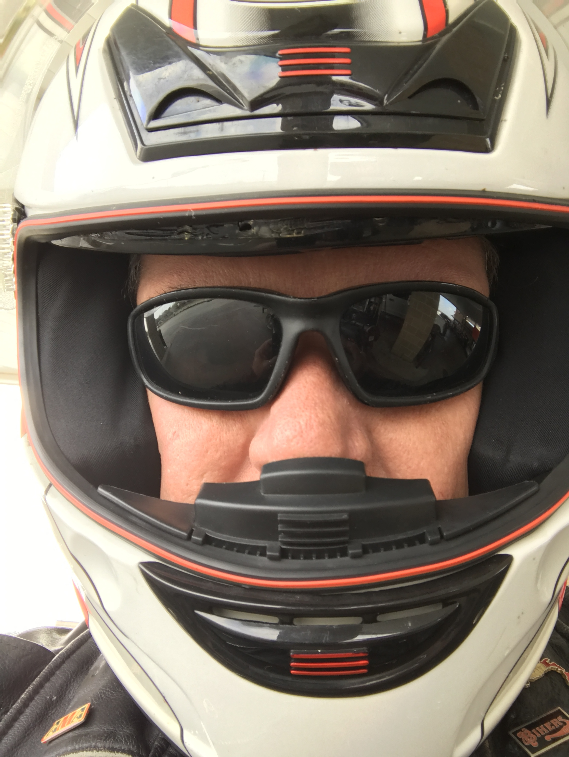 Yes, I wore a helmet this trip because the wind was CRAZY!