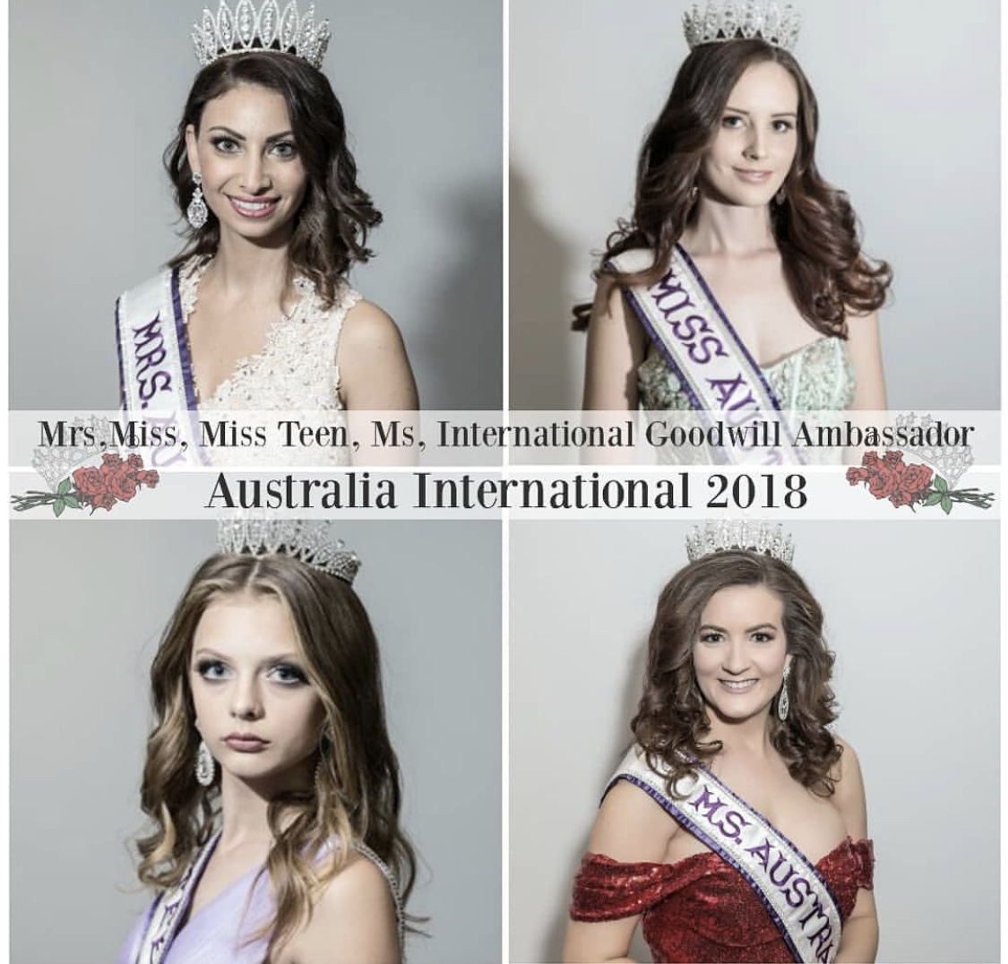 Mrs, Ms, Miss & Miss Teen Australia International