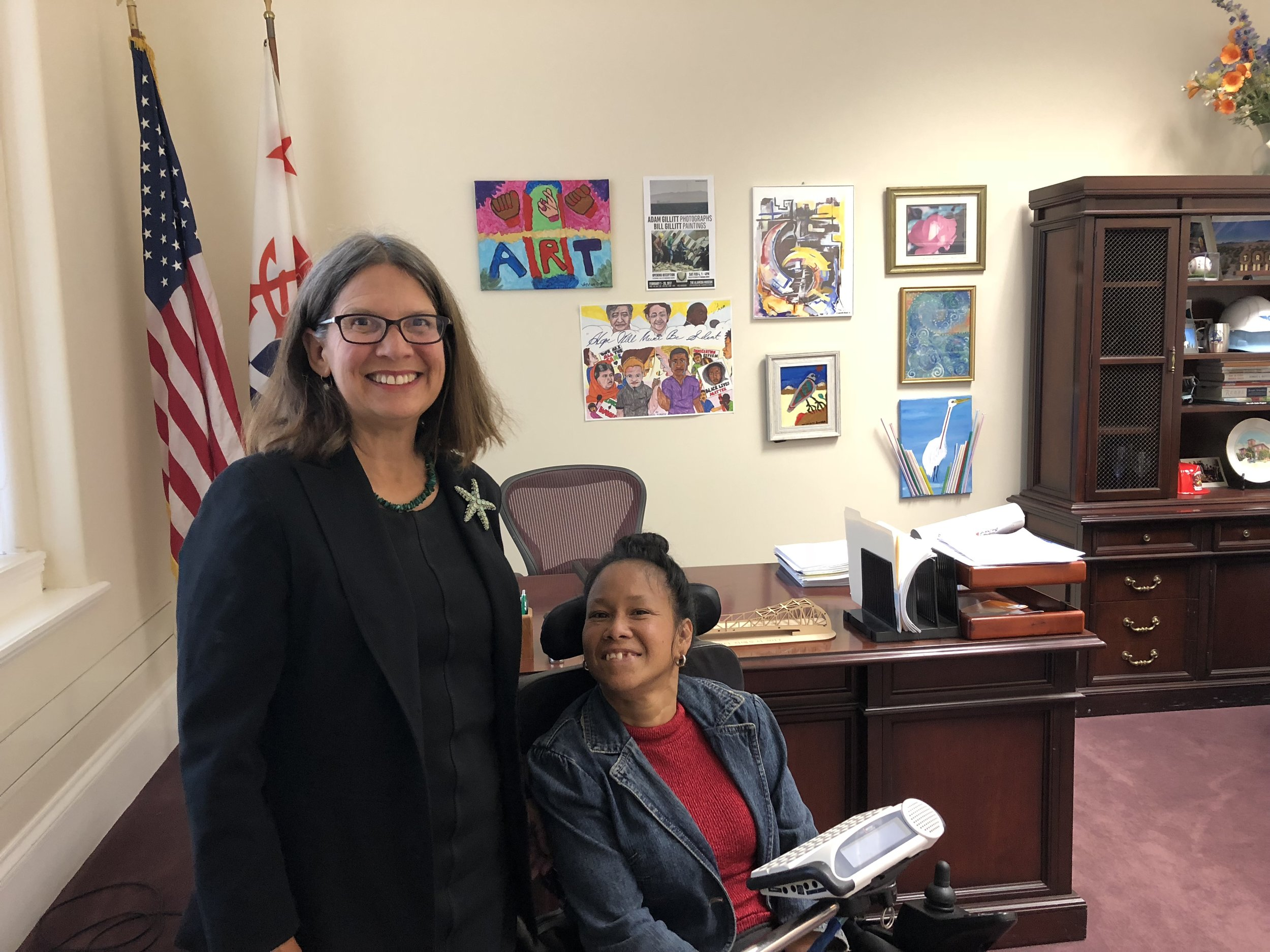 Mayor Spencer and I in her office