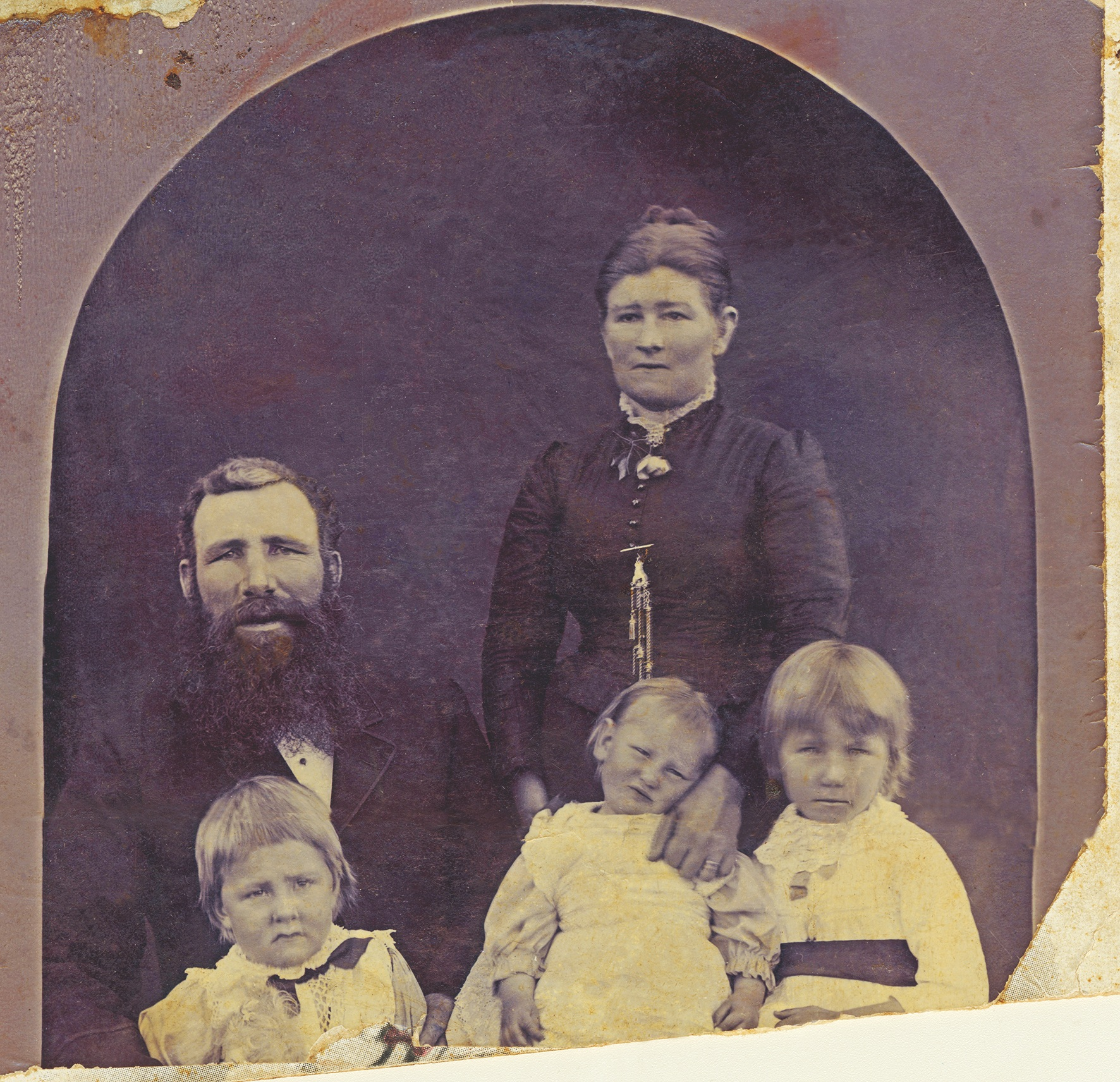 Photo from 1895 after retouching, digital copy can be shared with family members easily.