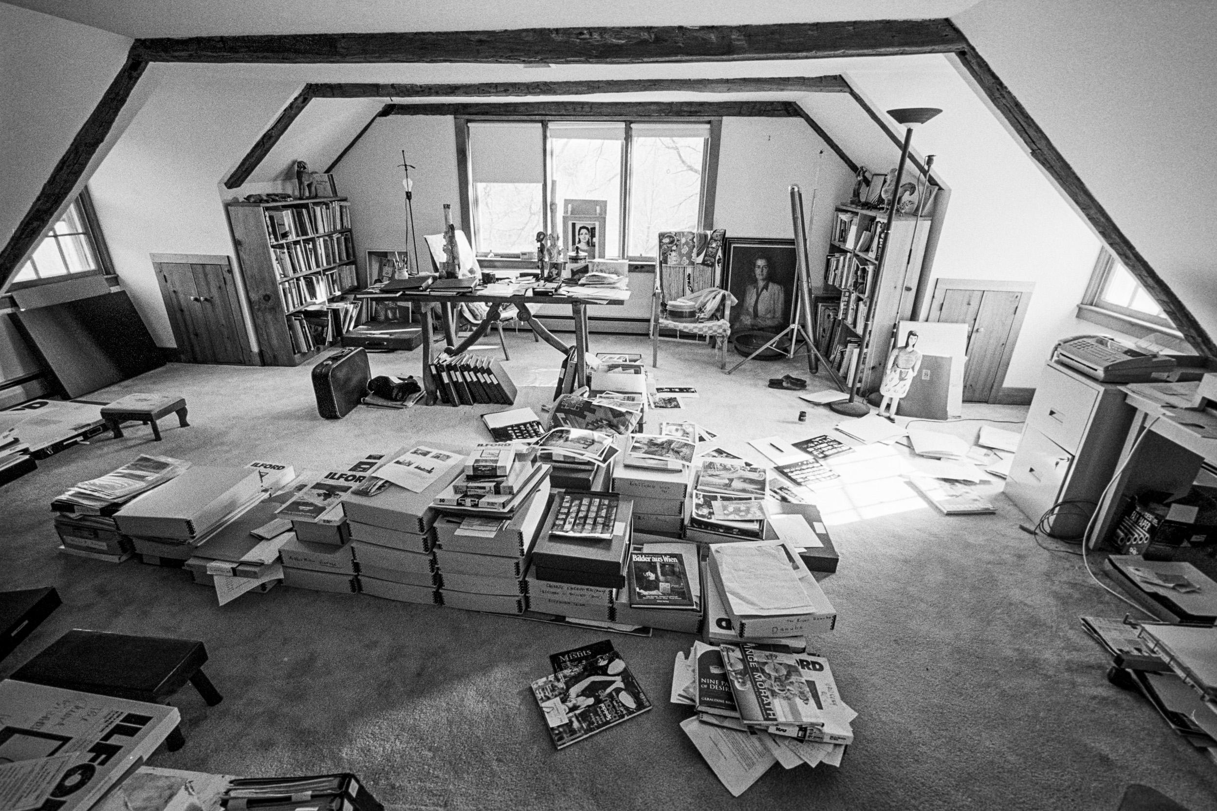 Podstrešni atelje Inge Morath, Roxbury, Connecticut, ZDA, 1998, © Kurt Kaindl / FOTOHOF archiv