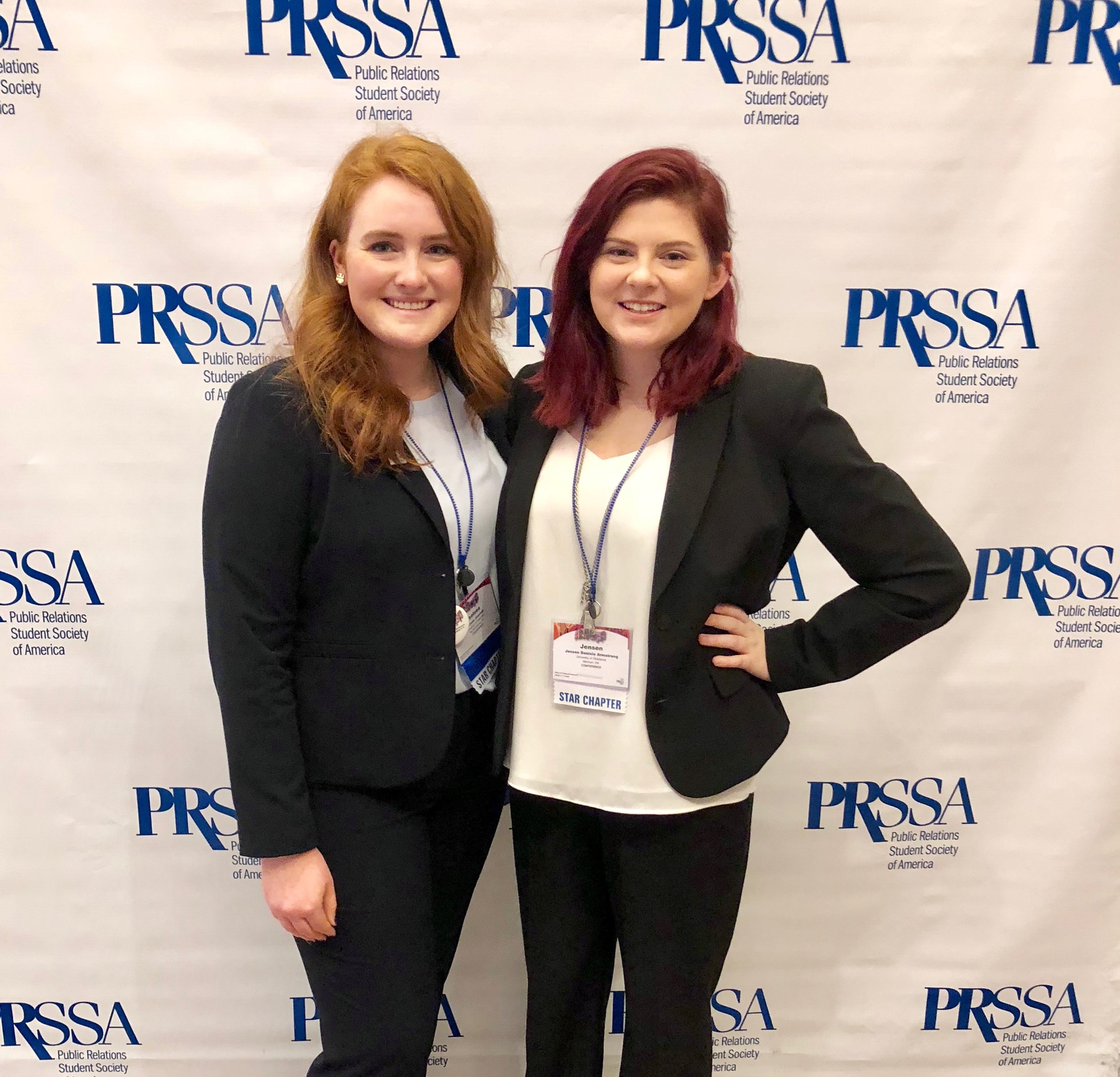 (Treasurer Jensen Armstrong and President Chelsea Journee at National Conference)