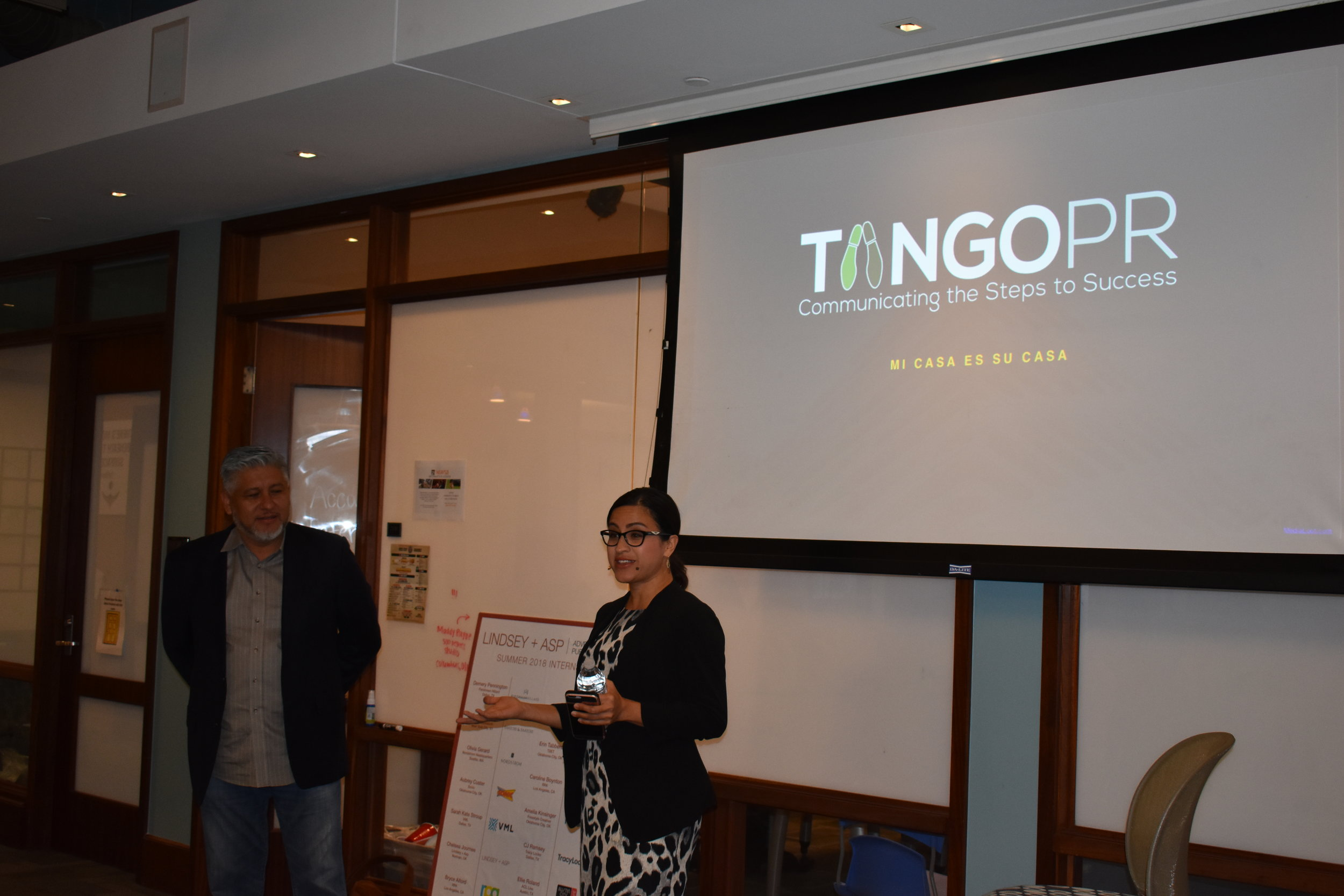 Brenda and Jorge explain their roles at Tango PR and the origin of their company.