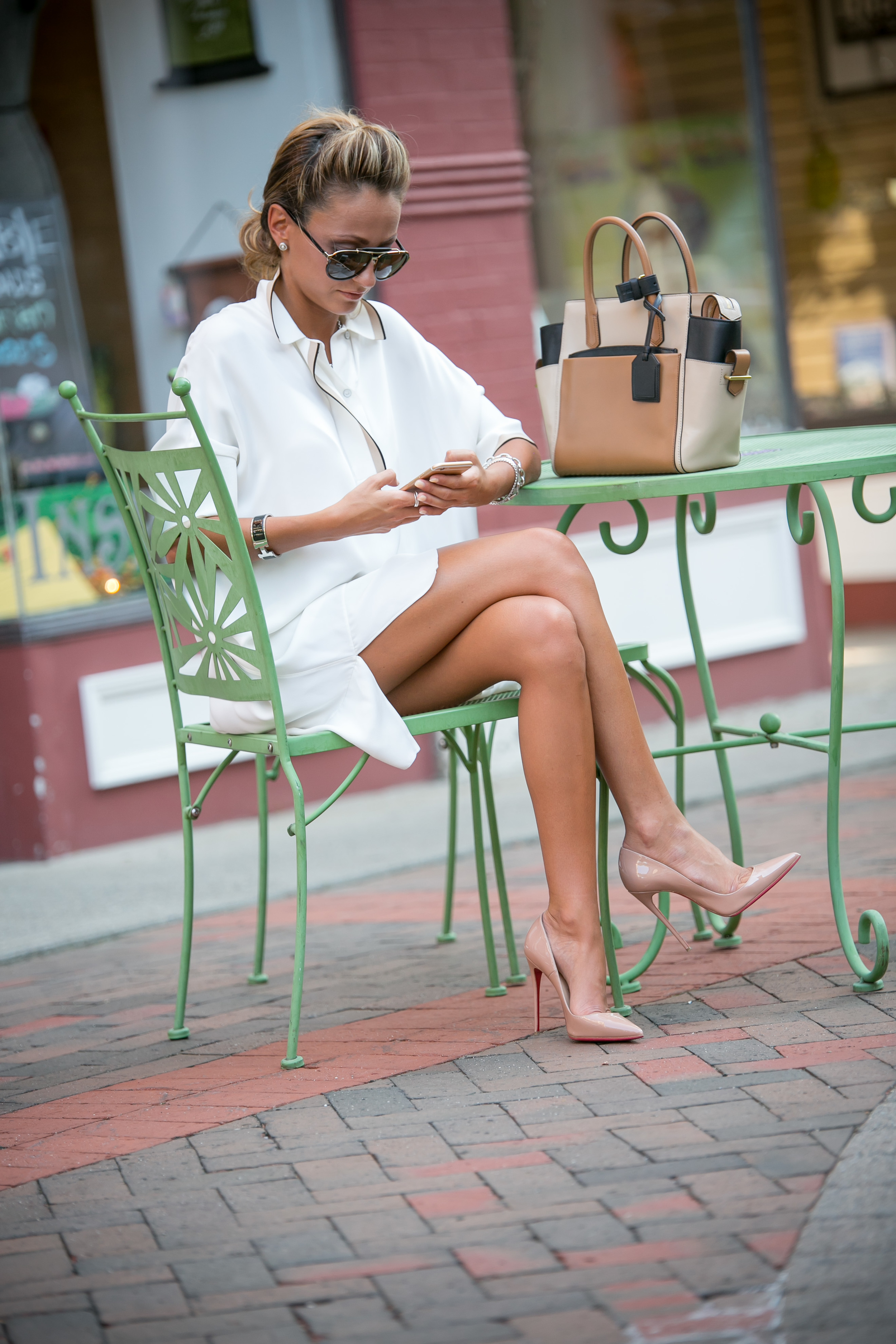 Dress: Rag & Bone |Bag: Reed Krakoff |Pumps: Christian Louboutin |Sunnies: Marc Jacobs     Dino Petrocelli Photography