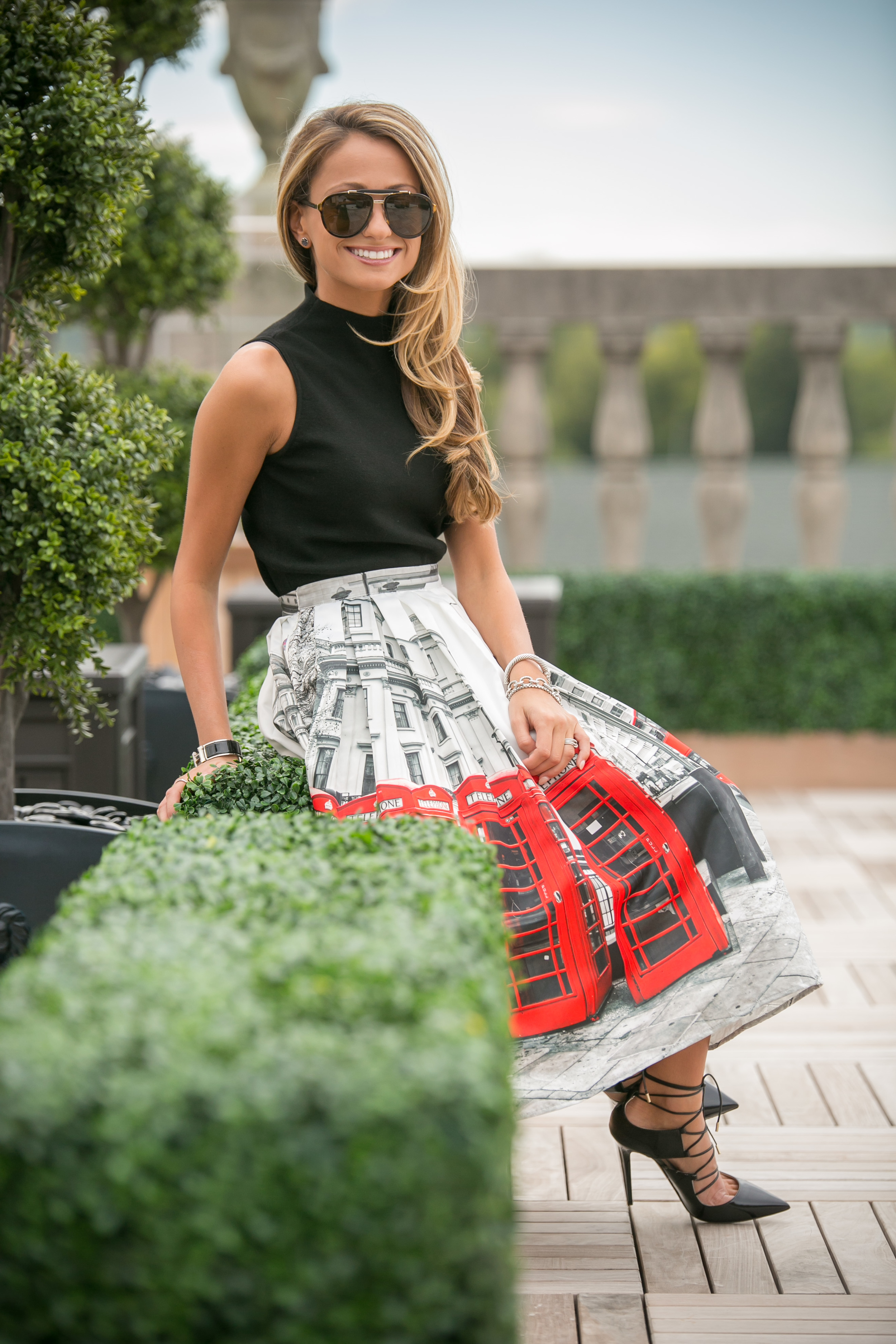 Top: Milly |Skirt: Chicwish |Pumps: Jimmy Choo     Dino Petrocelli Photography