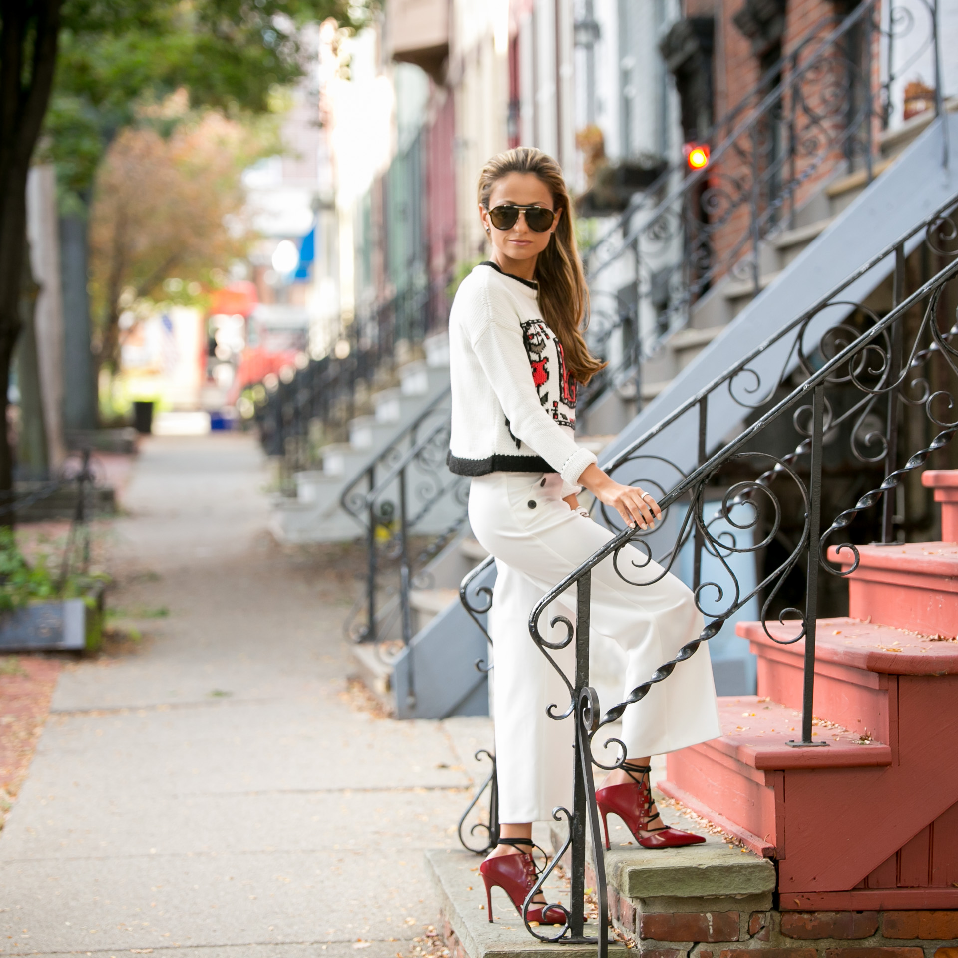 street style by Lauren Recchia wearing a full TopShop look