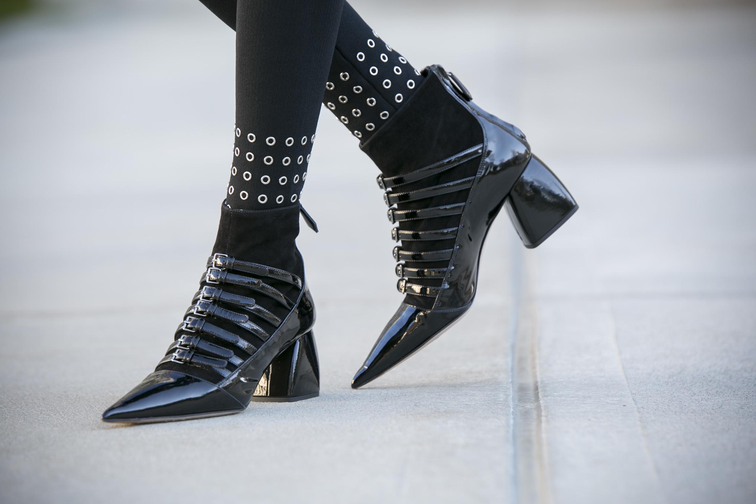 Leggings: Sandro Paris |Cardigan: Sandro Paris |Booties:Miu Miu|Beret: Stella McCartney    Dino Petrocelli Photography