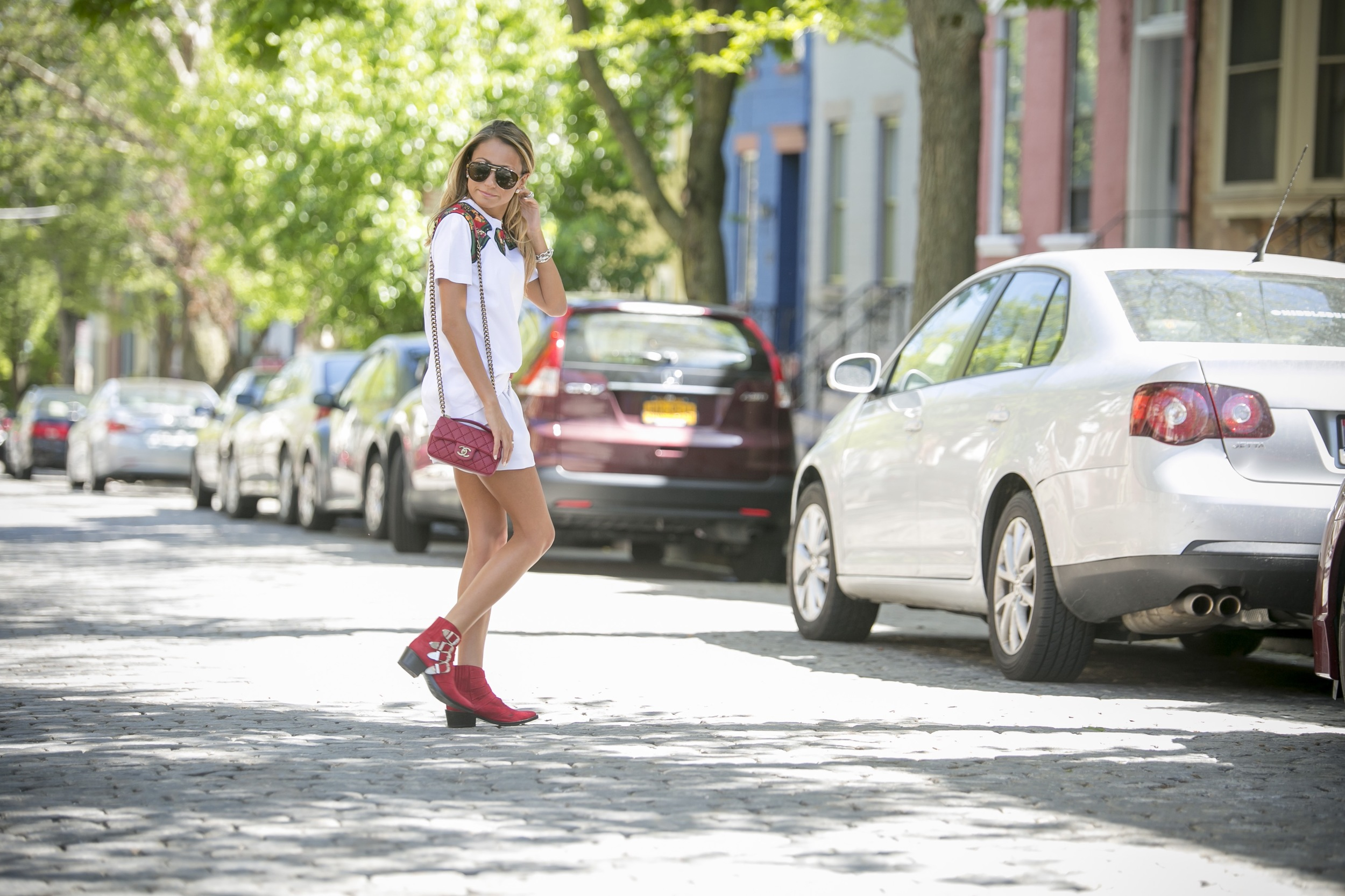 Tee: Coach |Shorts: Alice&Olivia |Booties: Toga      Dino Petrocelli Photography