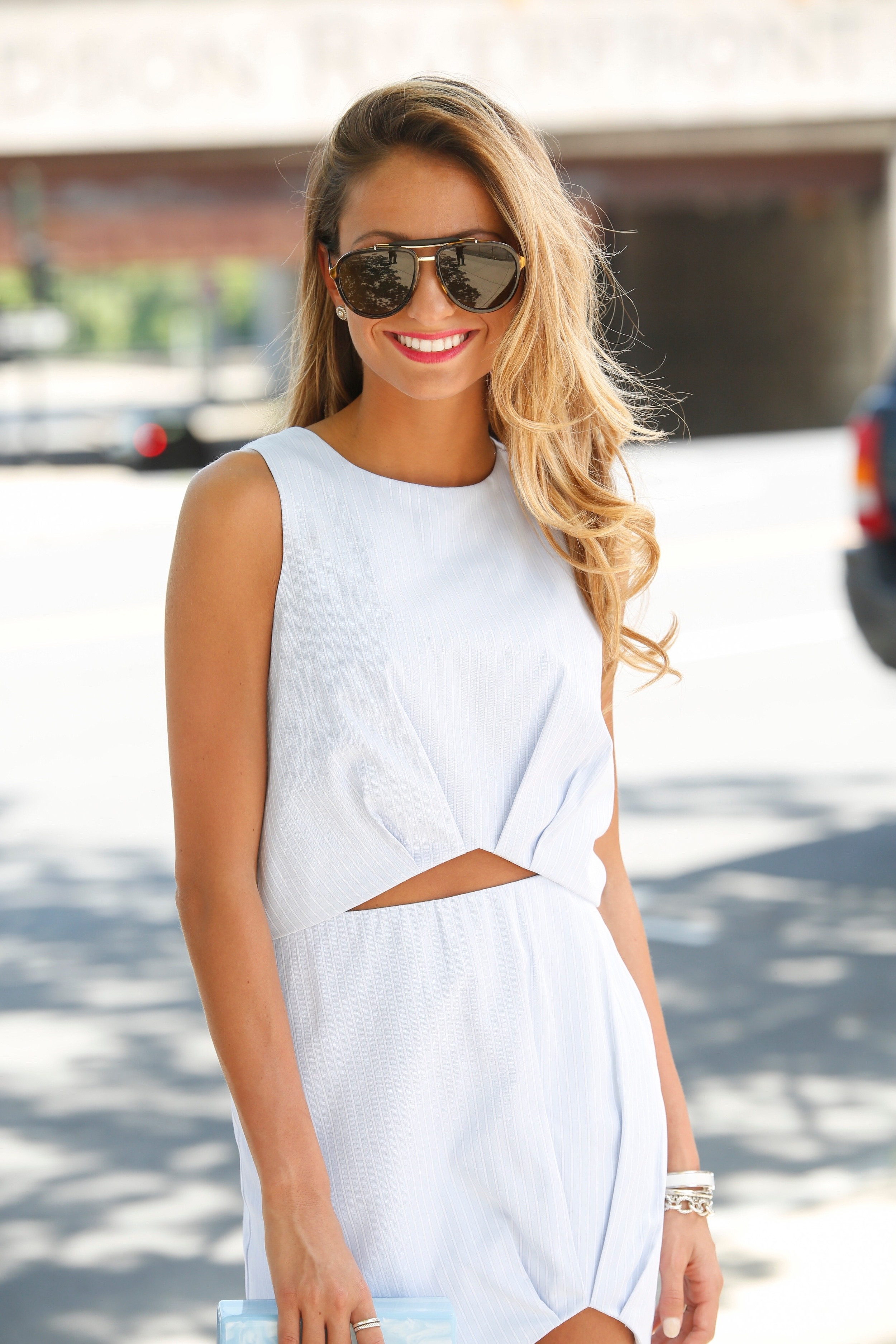 matching crop top and skirt set for spring 2016 streetstyle