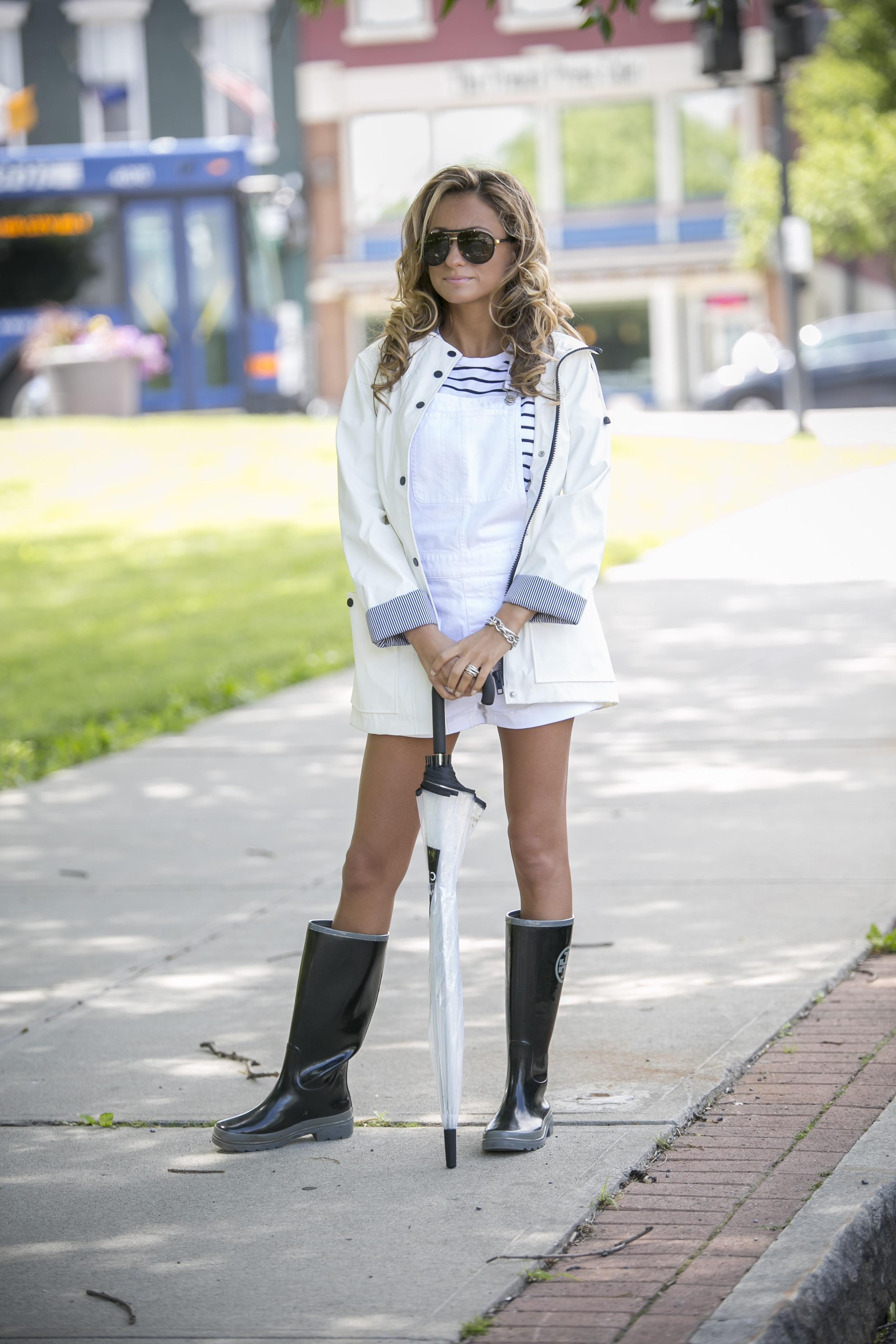 rainy day attire from streetstyle fashion blog north of Manhattan