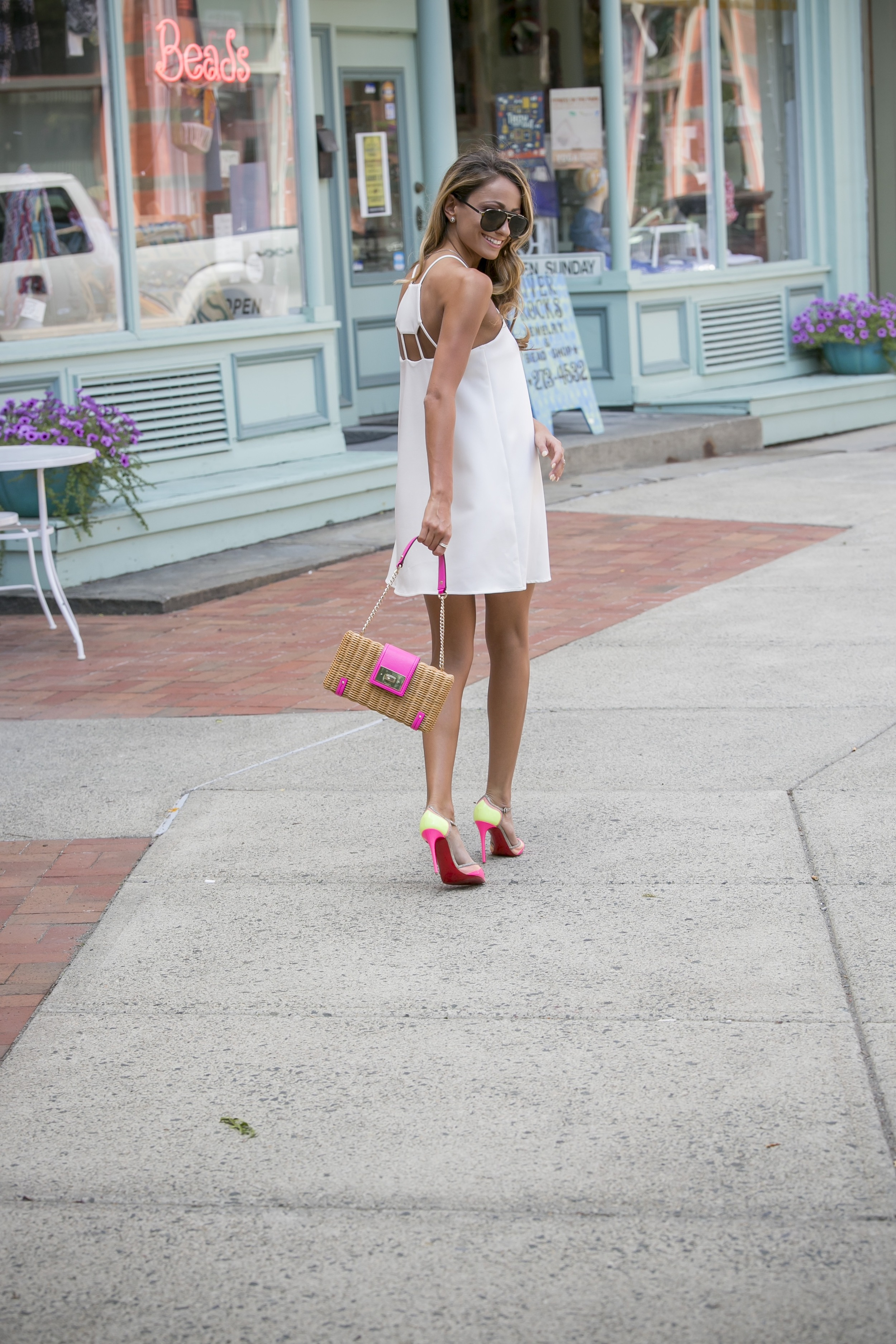 Dress: JOA |Pumps:Christian Louboutin( still available in flats )|Bag:Kate Spade(older)   Dino Petrocelli Photography